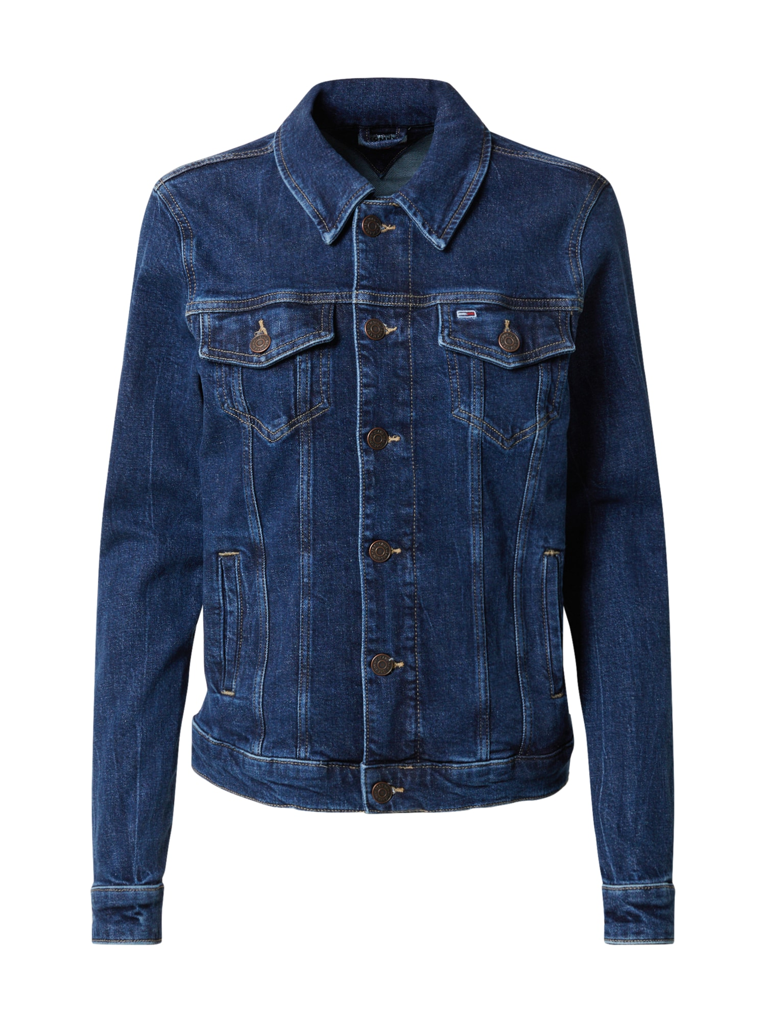 Tommy Jeans Demisezoninė striukė tamsiai (džinso) mėlyna