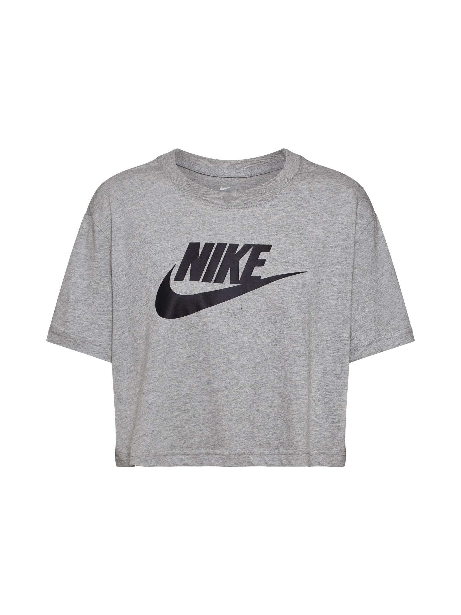 Nike Sportswear Marškinėliai juoda / pilka