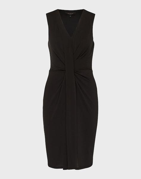 selected femme drapiertes kleid 39 sfsasha 39 in schwarz. Black Bedroom Furniture Sets. Home Design Ideas