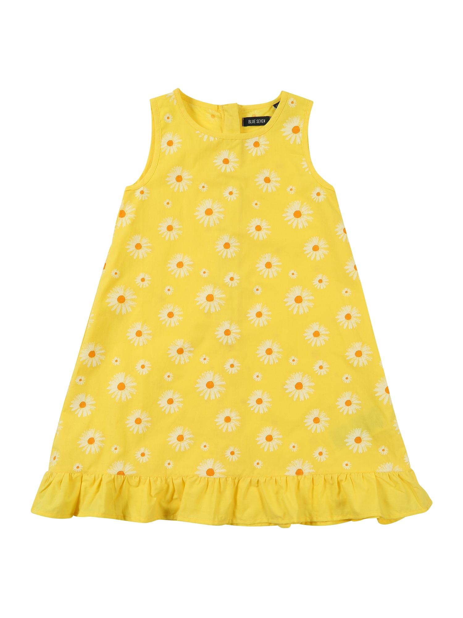 Šaty žlutá oranžová offwhite BLUE SEVEN
