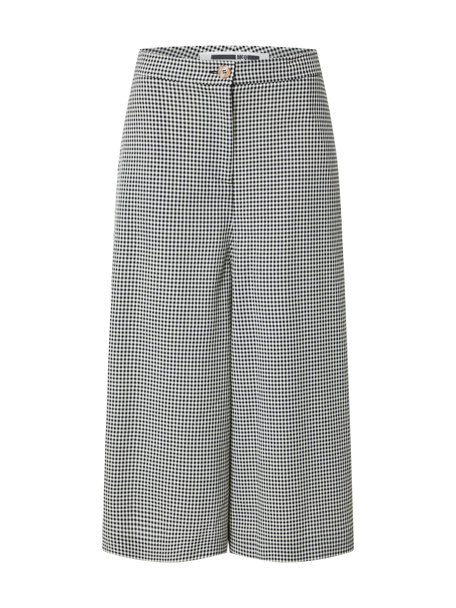 McQ Alexander McQueen Nohavice  biela / čierna
