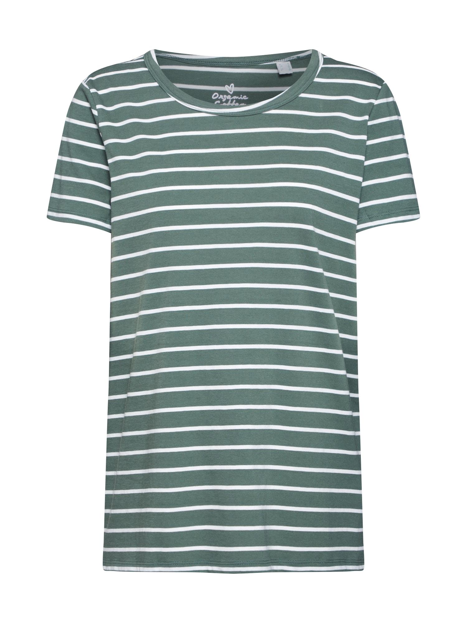 ESPRIT Marškinėliai 'NOOS OCS T' rusvai žalia