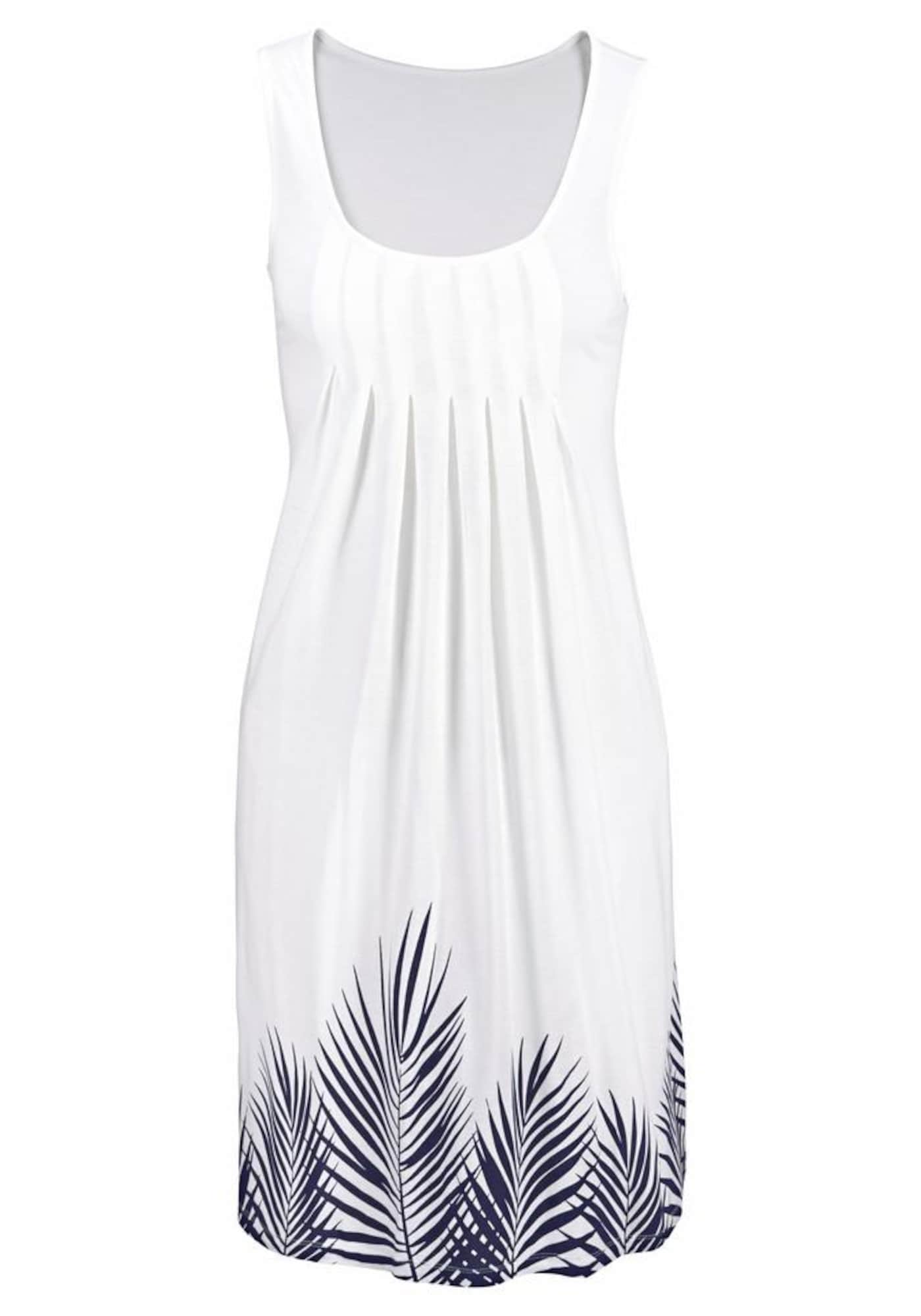 BEACH TIME Paplūdimio suknelė tamsiai mėlyna / balta