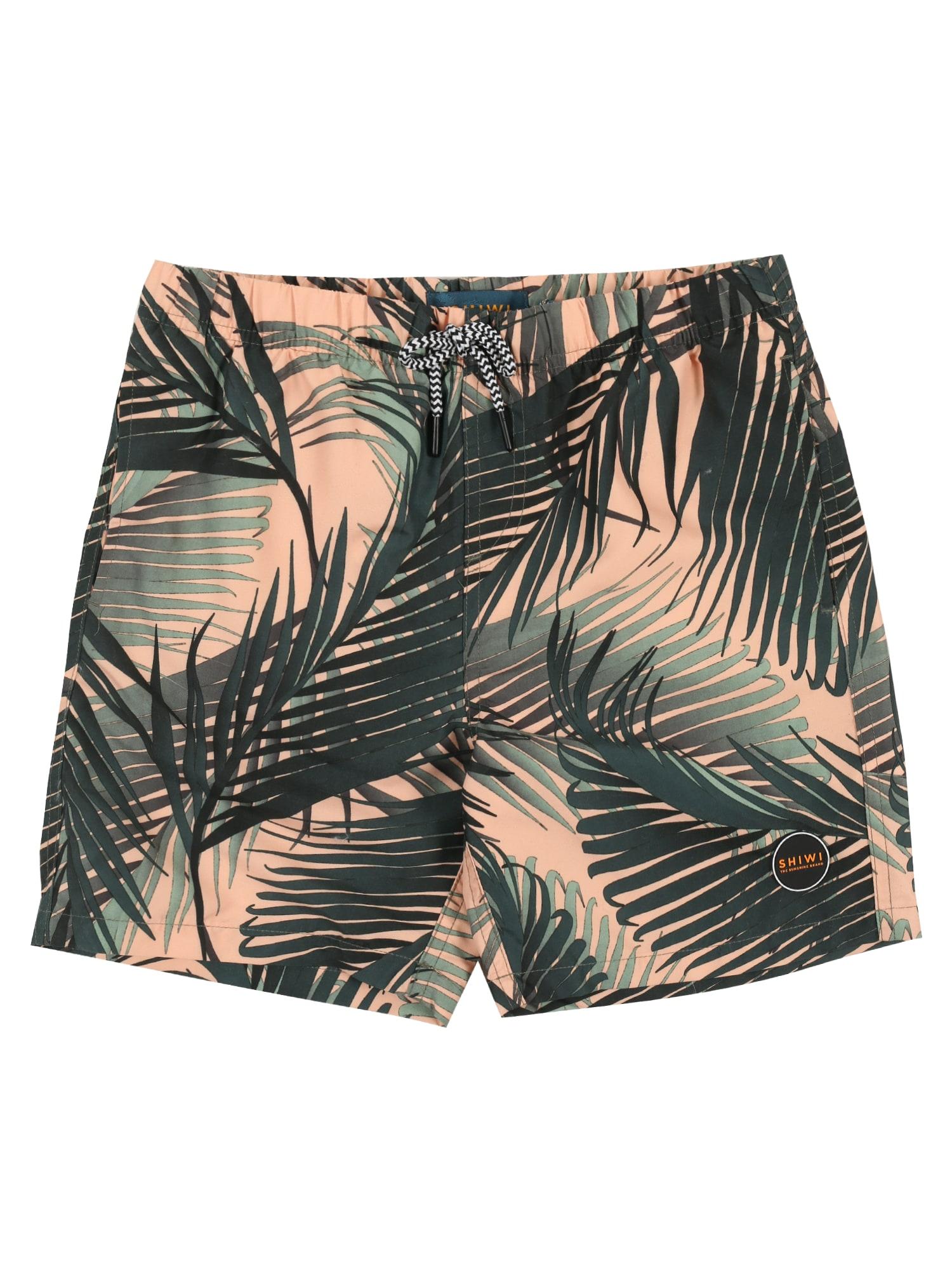 Shiwi Maudymosi kelnaitės 'boys swimshort foliage' persikų spalva / žalia