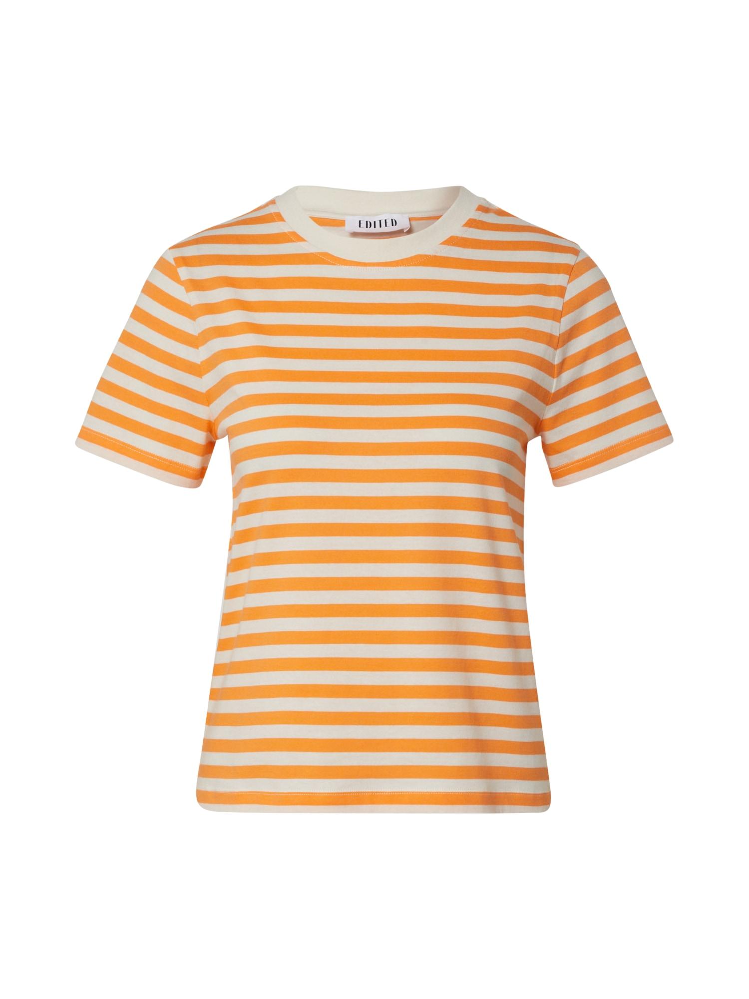 EDITED Marškinėliai 'Leila' oranžinė / balta