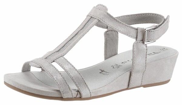 Sandalen für Frauen - TAMARIS Sandalen hellgrau  - Onlineshop ABOUT YOU