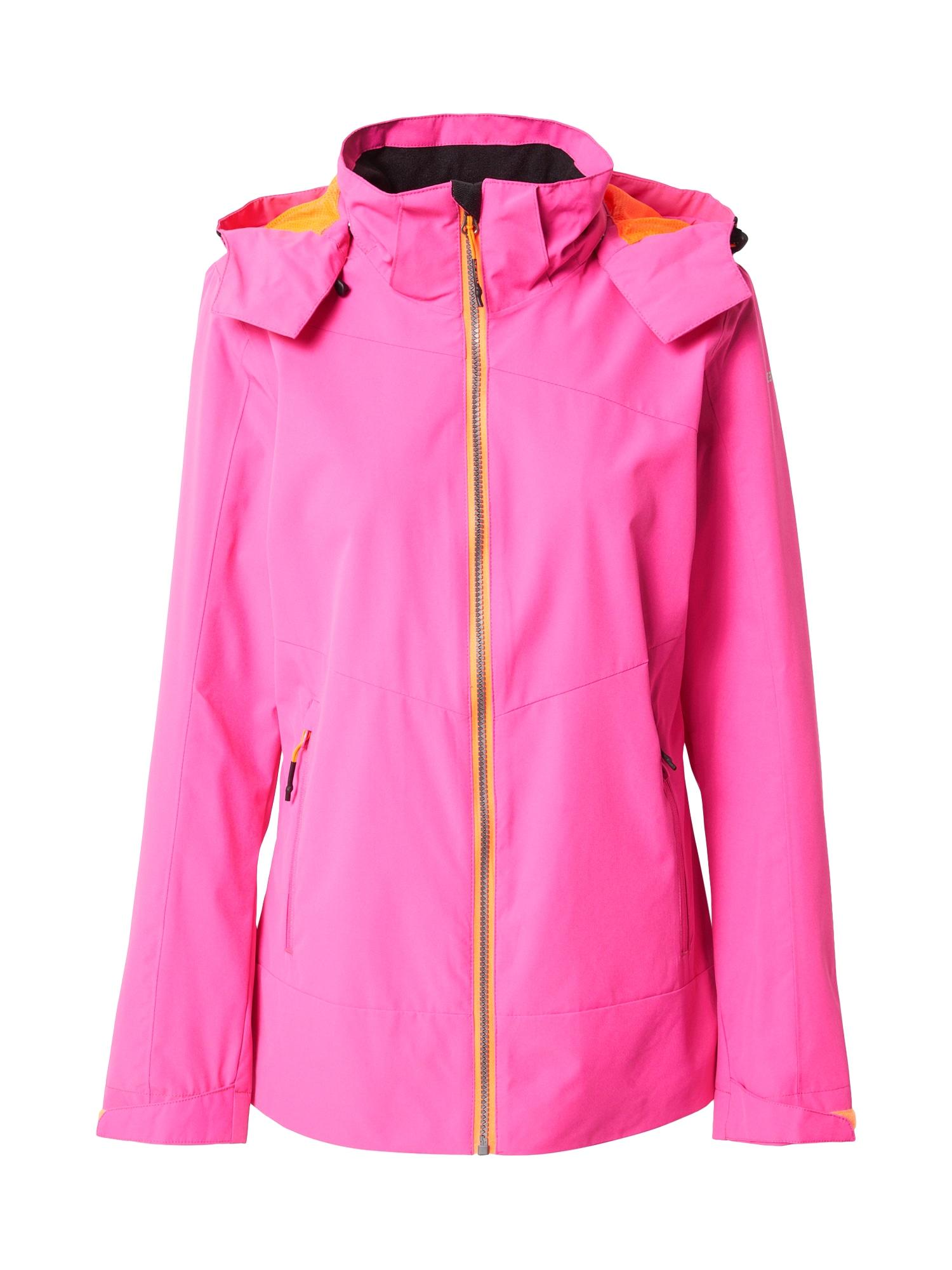 ICEPEAK Outdoorová bunda 'CALERA'  korálová / pink