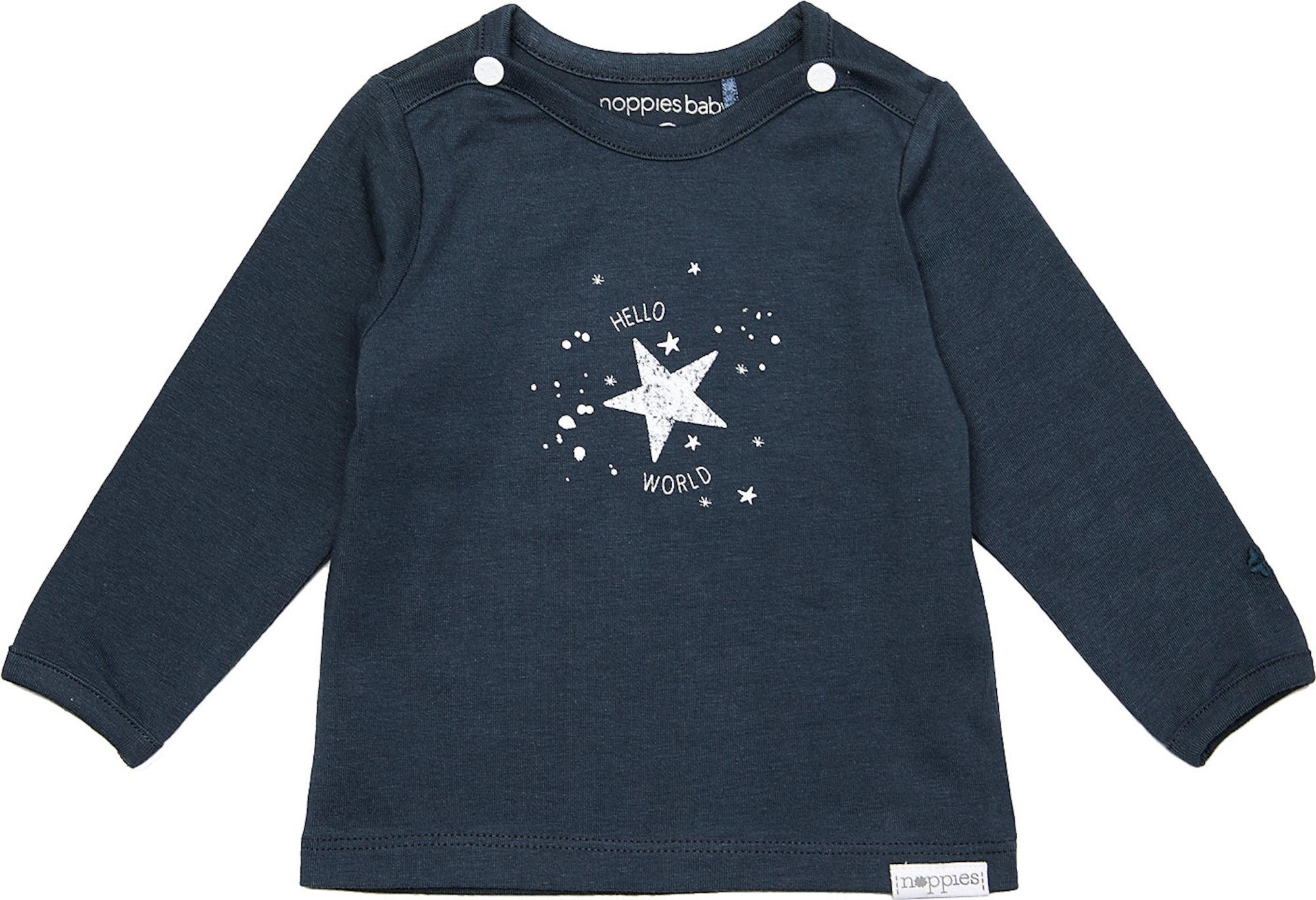 Noppies Marškinėliai 'Lux' balta / tamsiai mėlyna