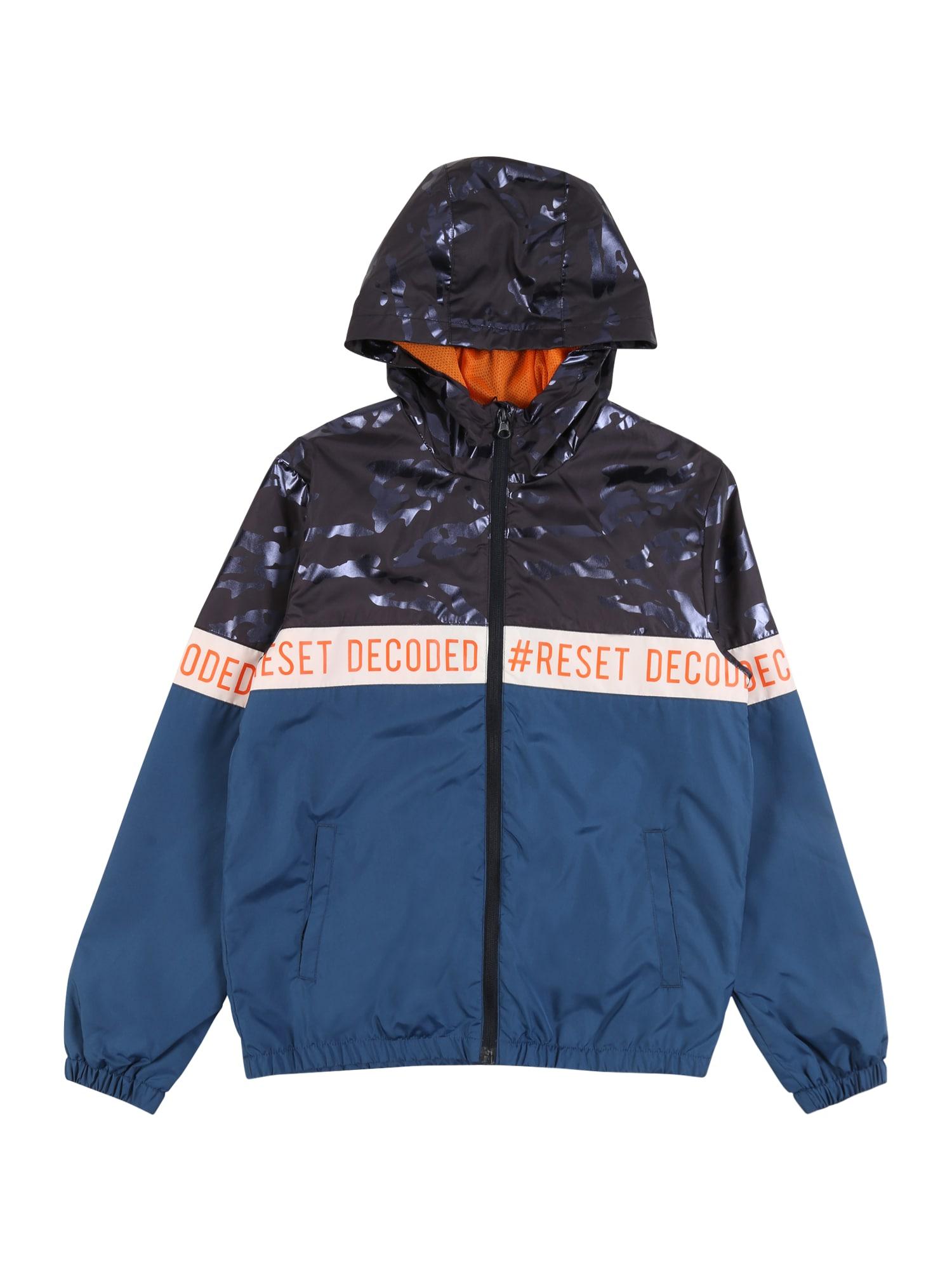NAME IT Prechodná bunda 'Milo'  námornícka modrá / tmavomodrá / ružová / oranžová