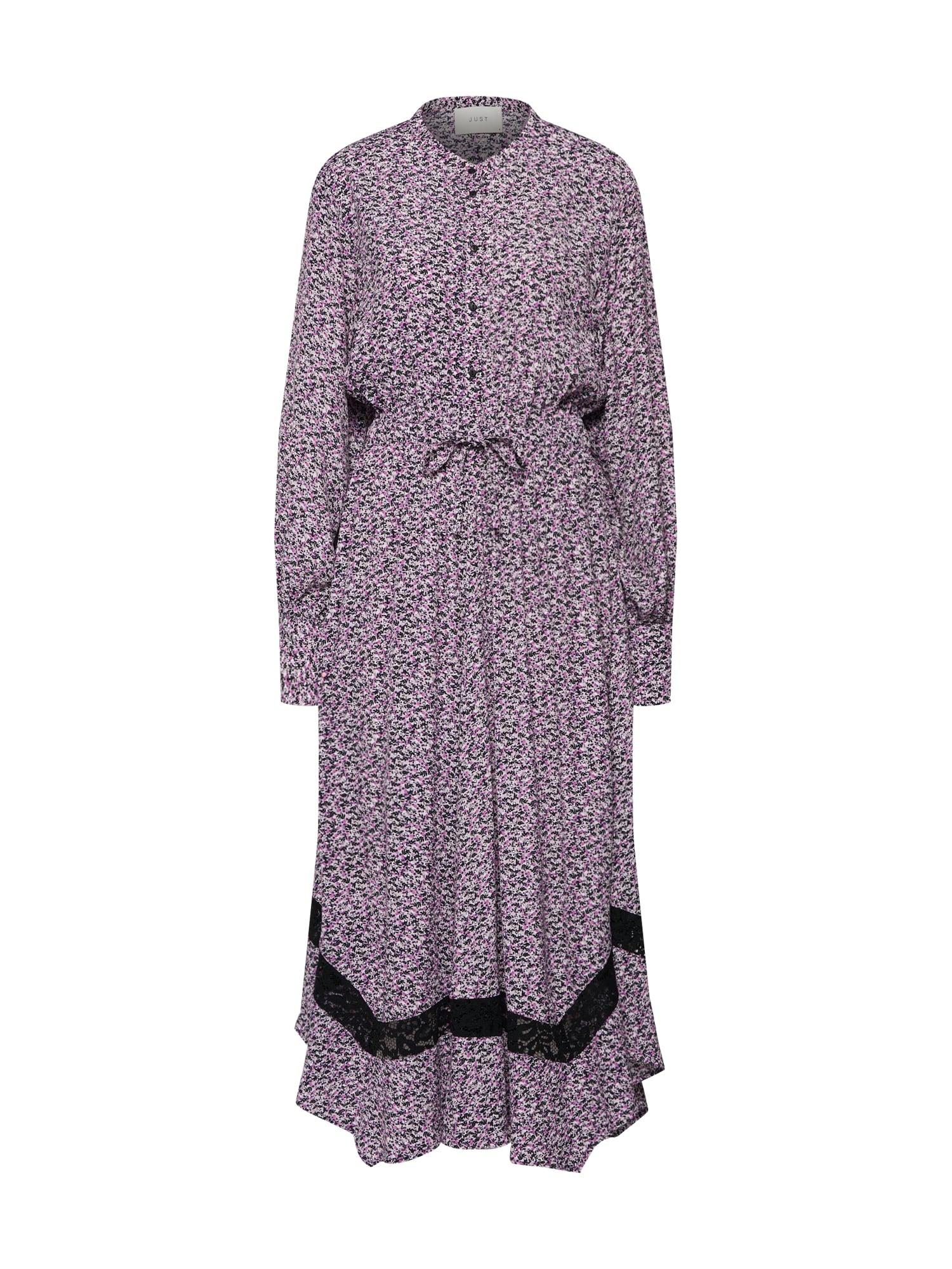 Košilové šaty Aida fialová černá JUST FEMALE