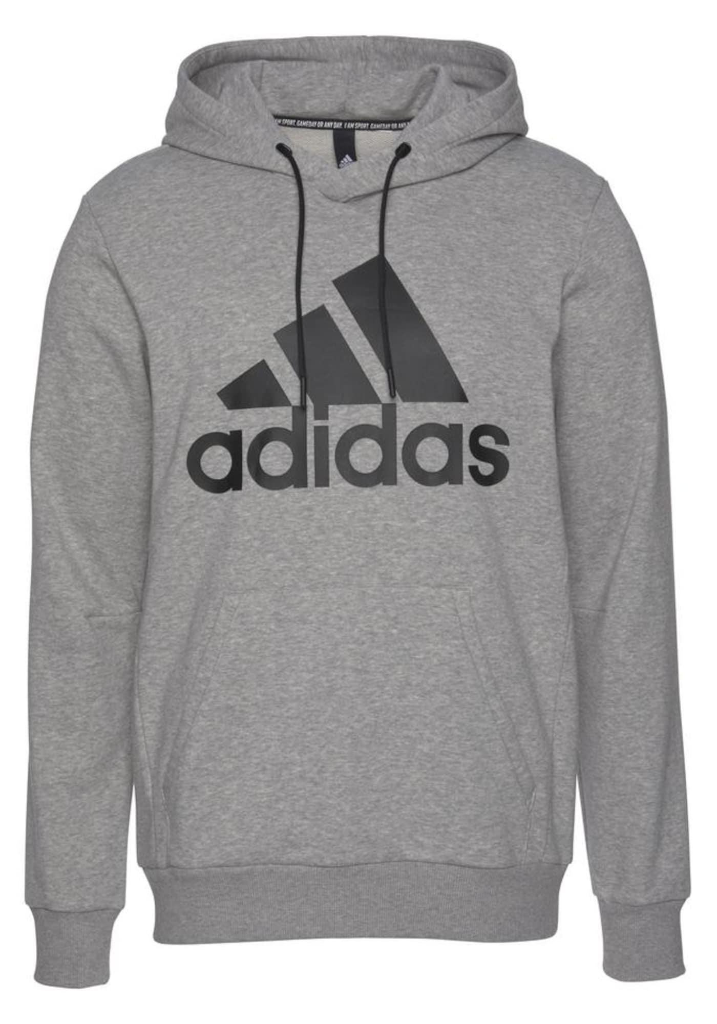ADIDAS PERFORMANCE Sportinio tipo megztinis 'Bos Po Ft' juoda / pilka