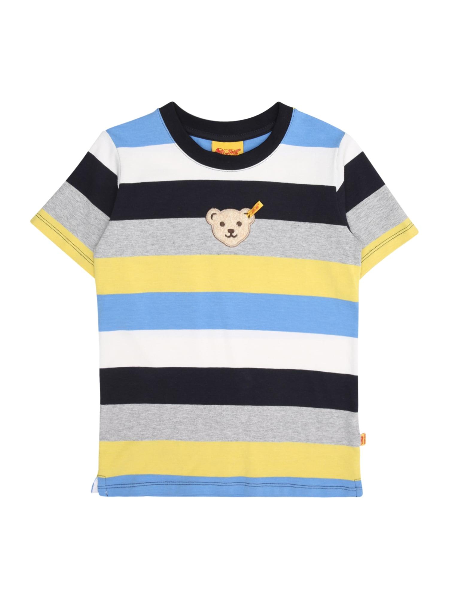 Tričko modrá žlutá šedá bílá Steiff Collection
