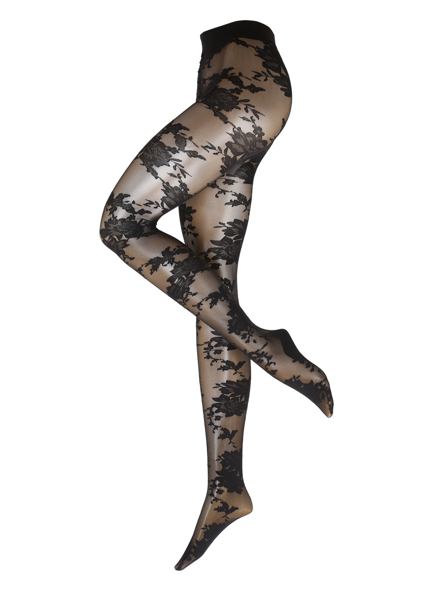 Hunkemöller Pėdkelnės 'TI 20DEN Bold Florals' juoda