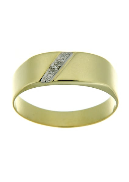 Ringe für Frauen - FIRETTI Siegelring mit Diamant gold  - Onlineshop ABOUT YOU