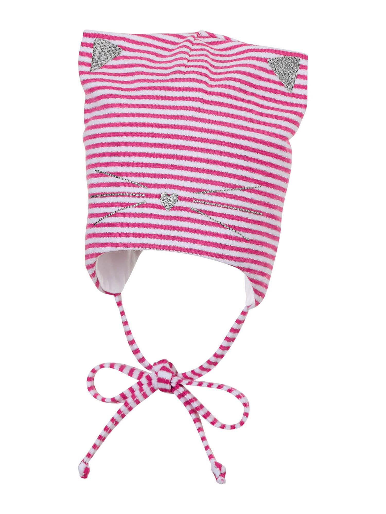 STERNTALER Megzta kepurė rožinė / balta / sidabrinė