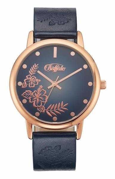 Uhren für Frauen - BUFFALO Quarzuhr marine rosegold  - Onlineshop ABOUT YOU