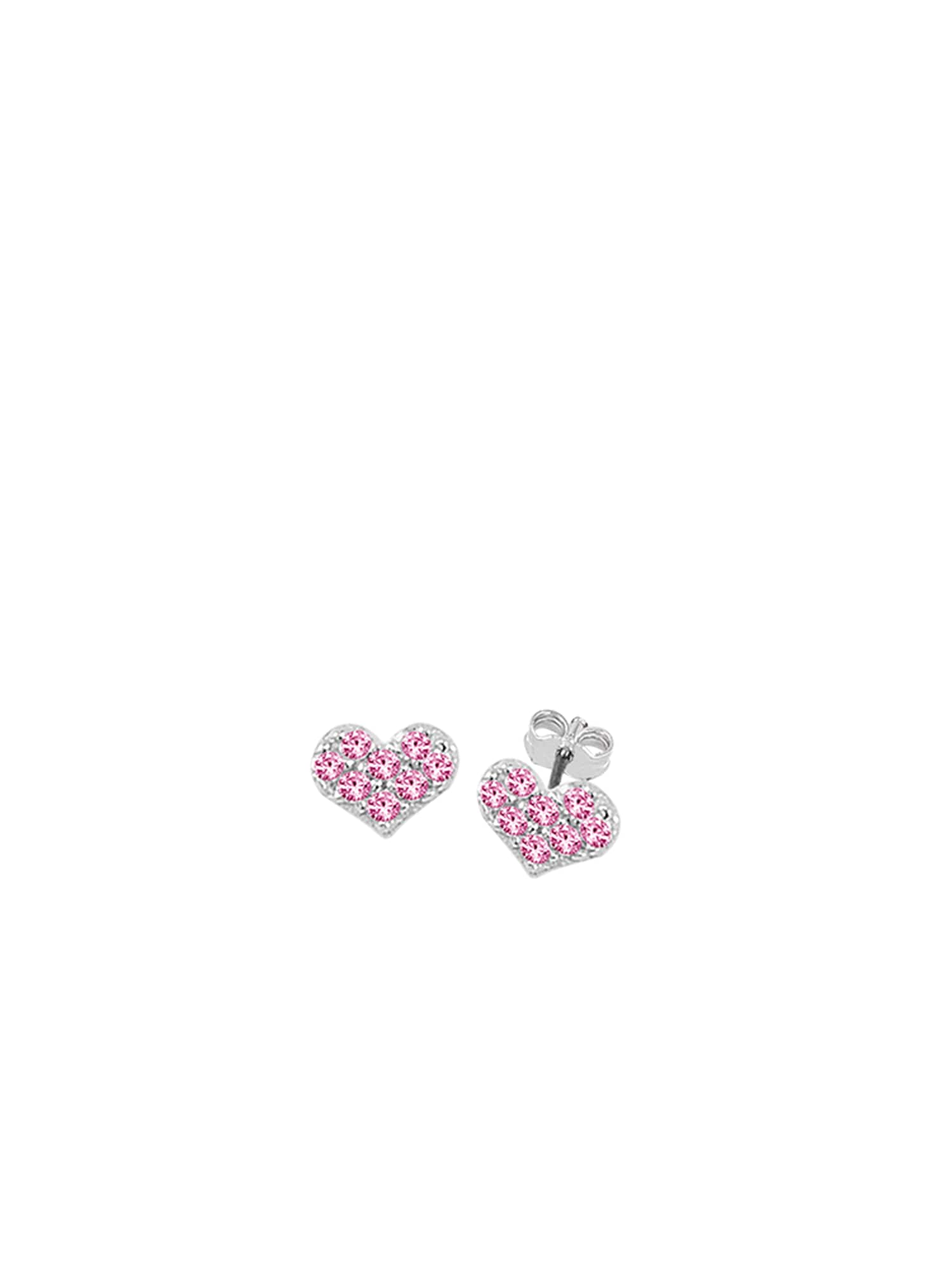 Náušnice LOVE IS IN THE AIR pink stříbrná SO COSI