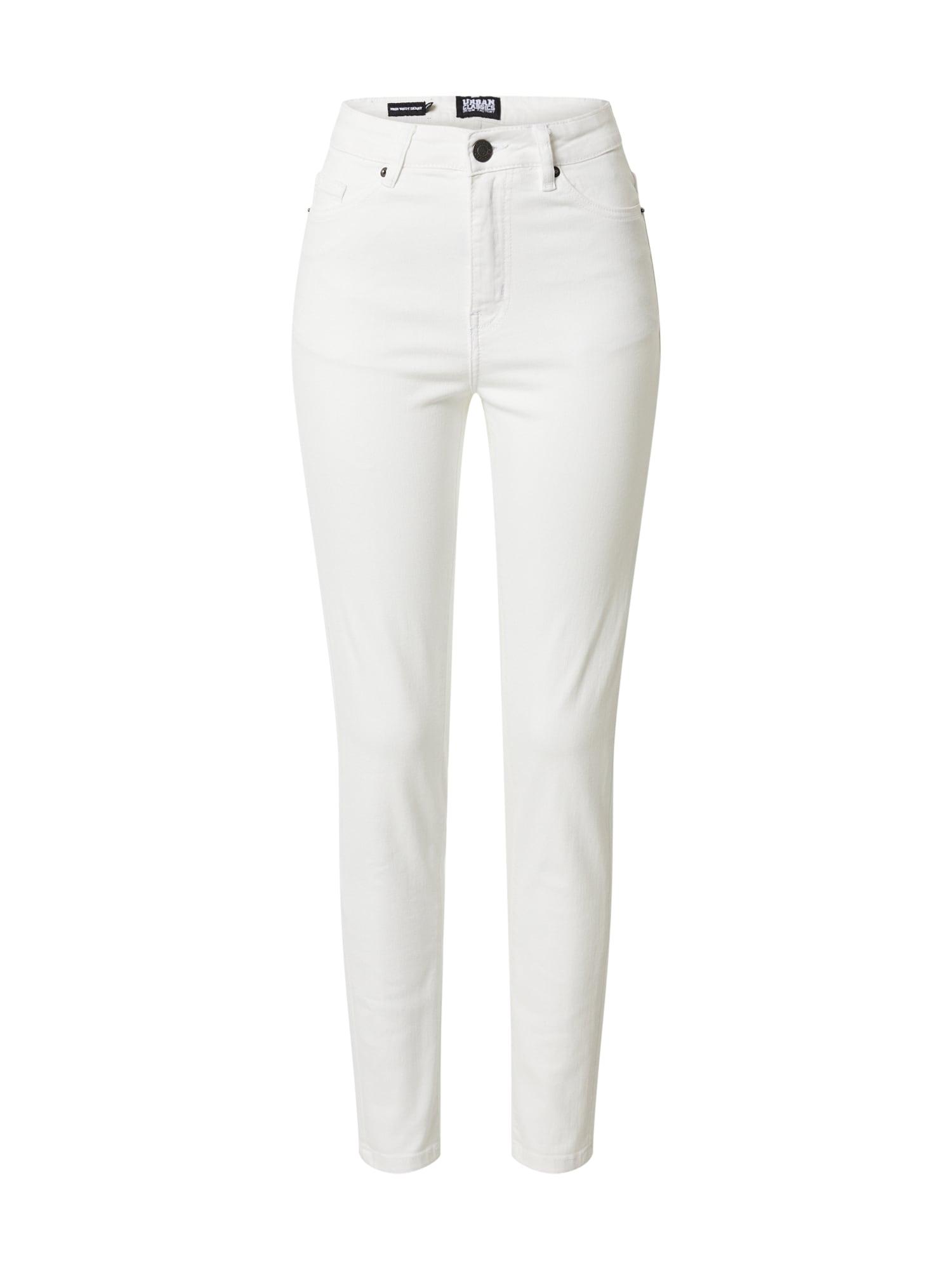 Urban Classics Džínsy 'Ladies High Waist Skinny Jeans'  biela