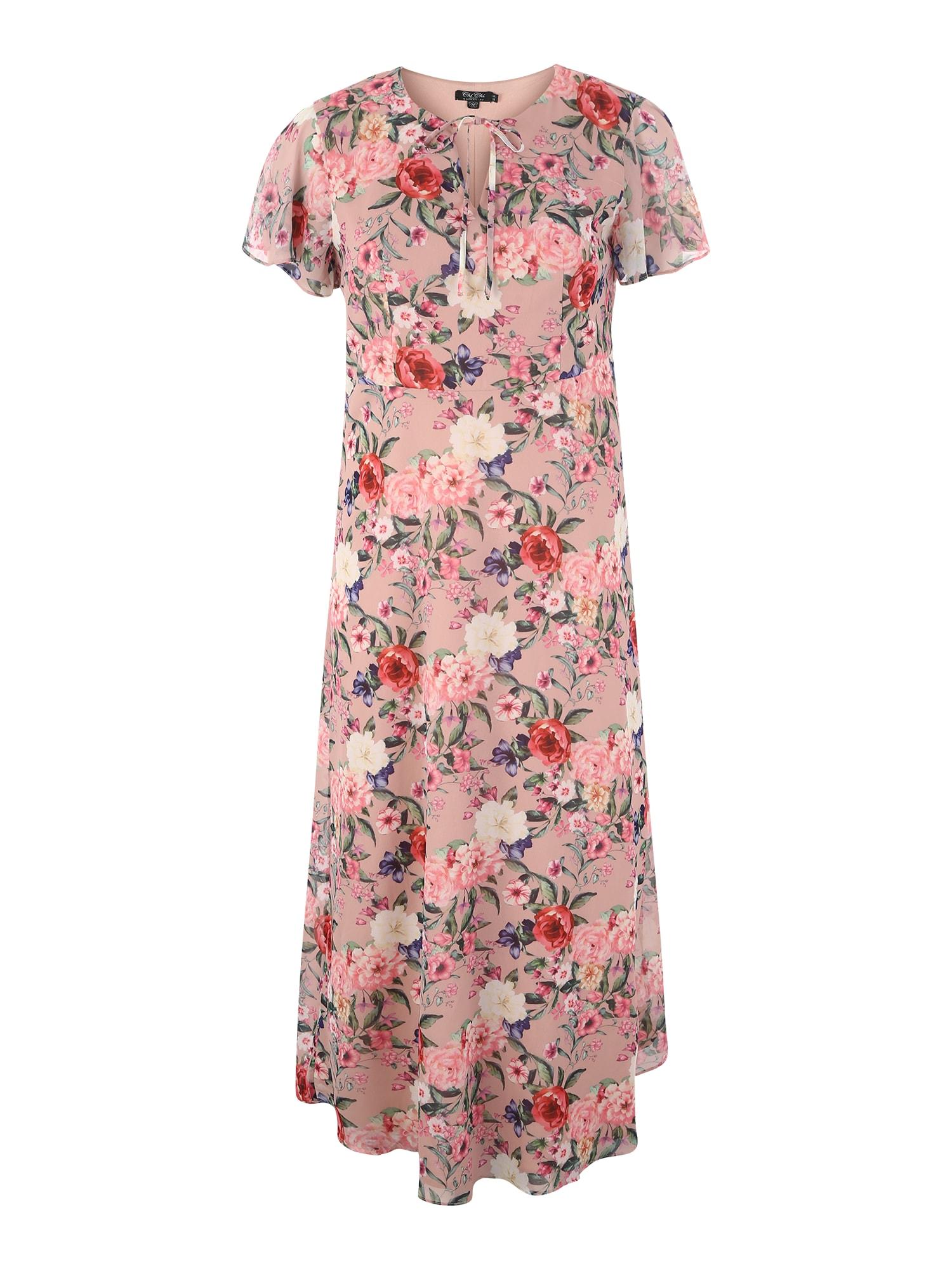 Šaty Sonar mix barev starorůžová Chi Chi Curve