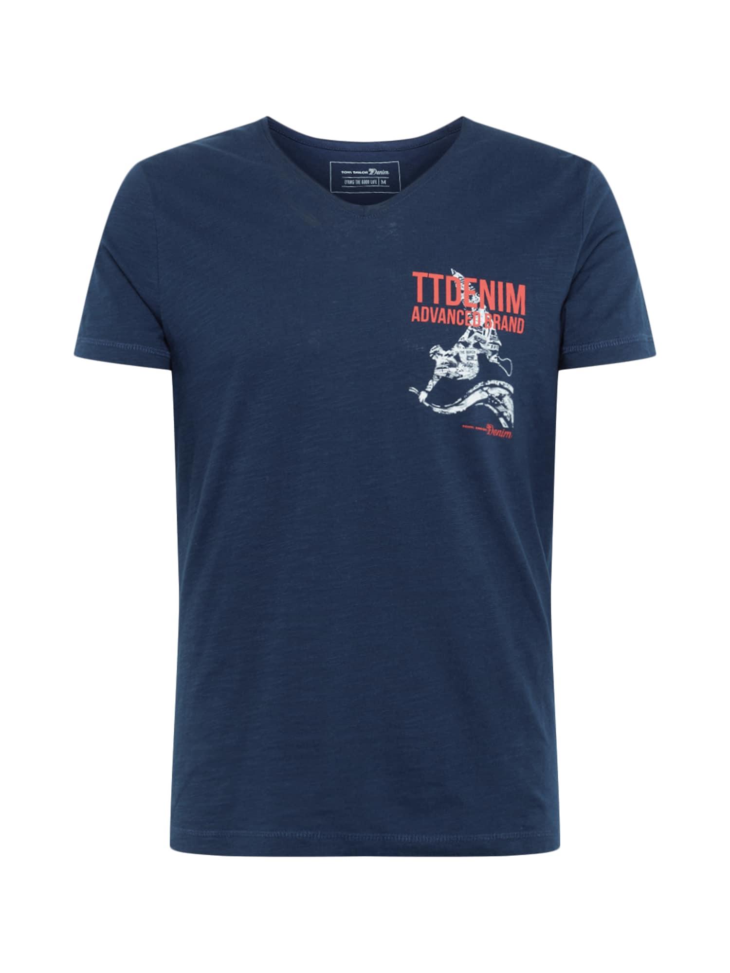 TOM TAILOR DENIM Tricou  albastru închis