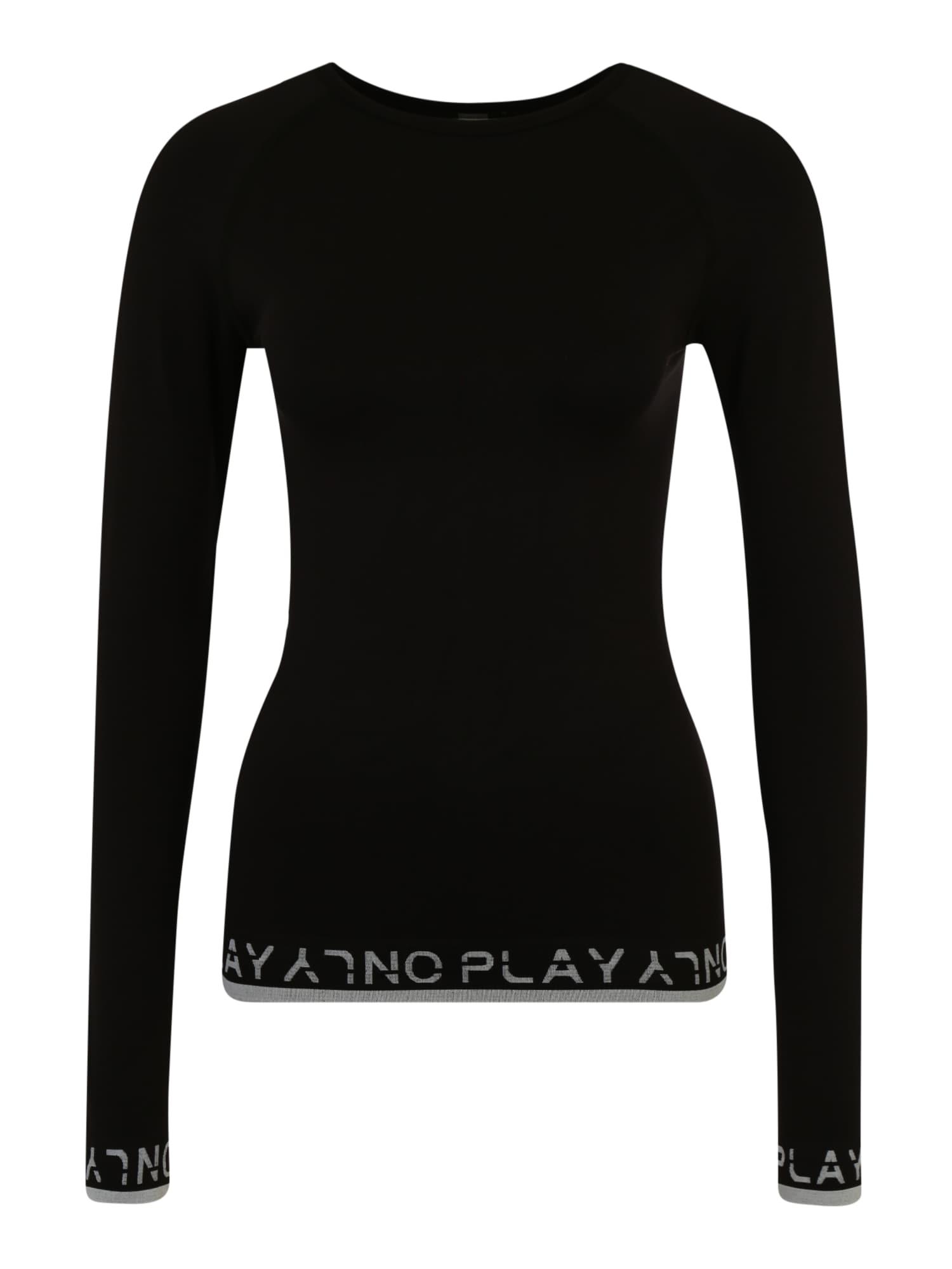 ONLY PLAY Funkčné tričko 'PERFORMANCE'  biela / čierna