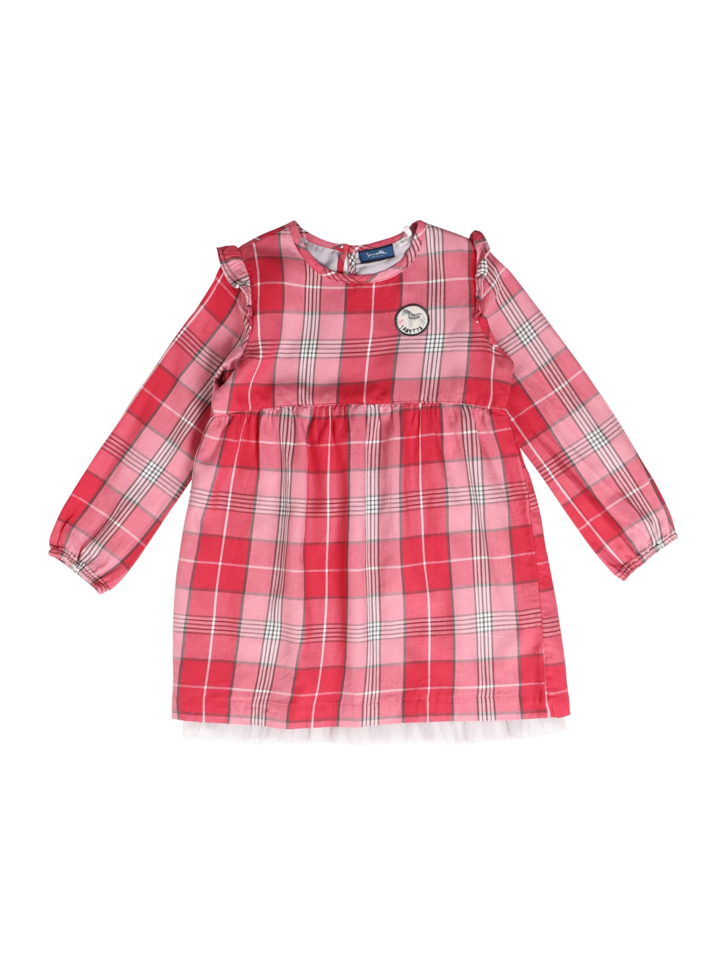 Kinder,  Mädchen,  Kinder Sanetta Kidswear Kleid grau,  pink | 04055502974898
