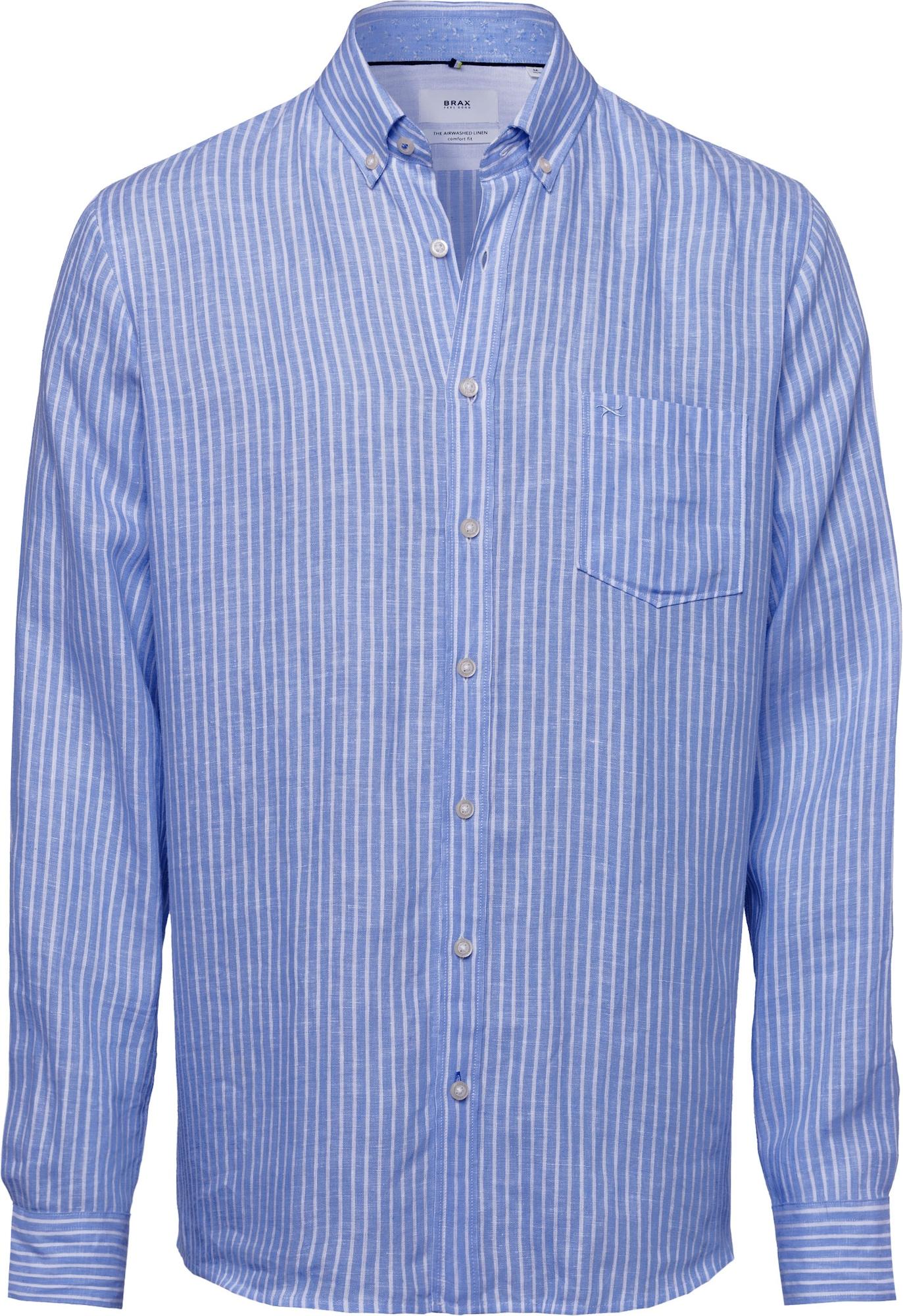 """BRAX Dalykiniai marškiniai 'Dries' balta / sodri mėlyna (""""karališka"""")"""