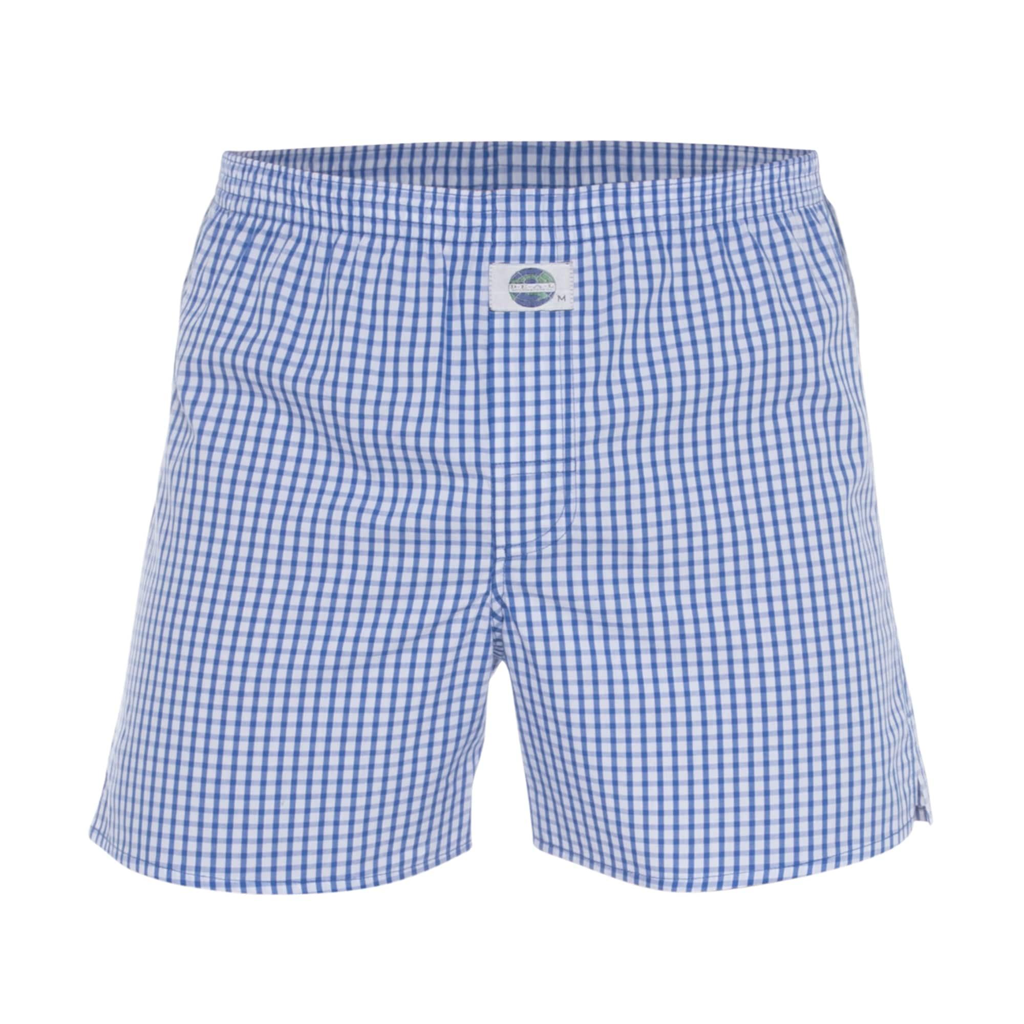 Boxerky Check modrá bílá D.E.A.L International