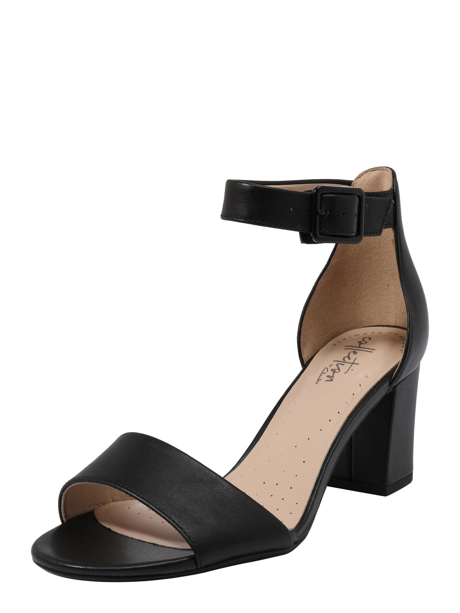 Páskové sandály Deva Mae černá CLARKS