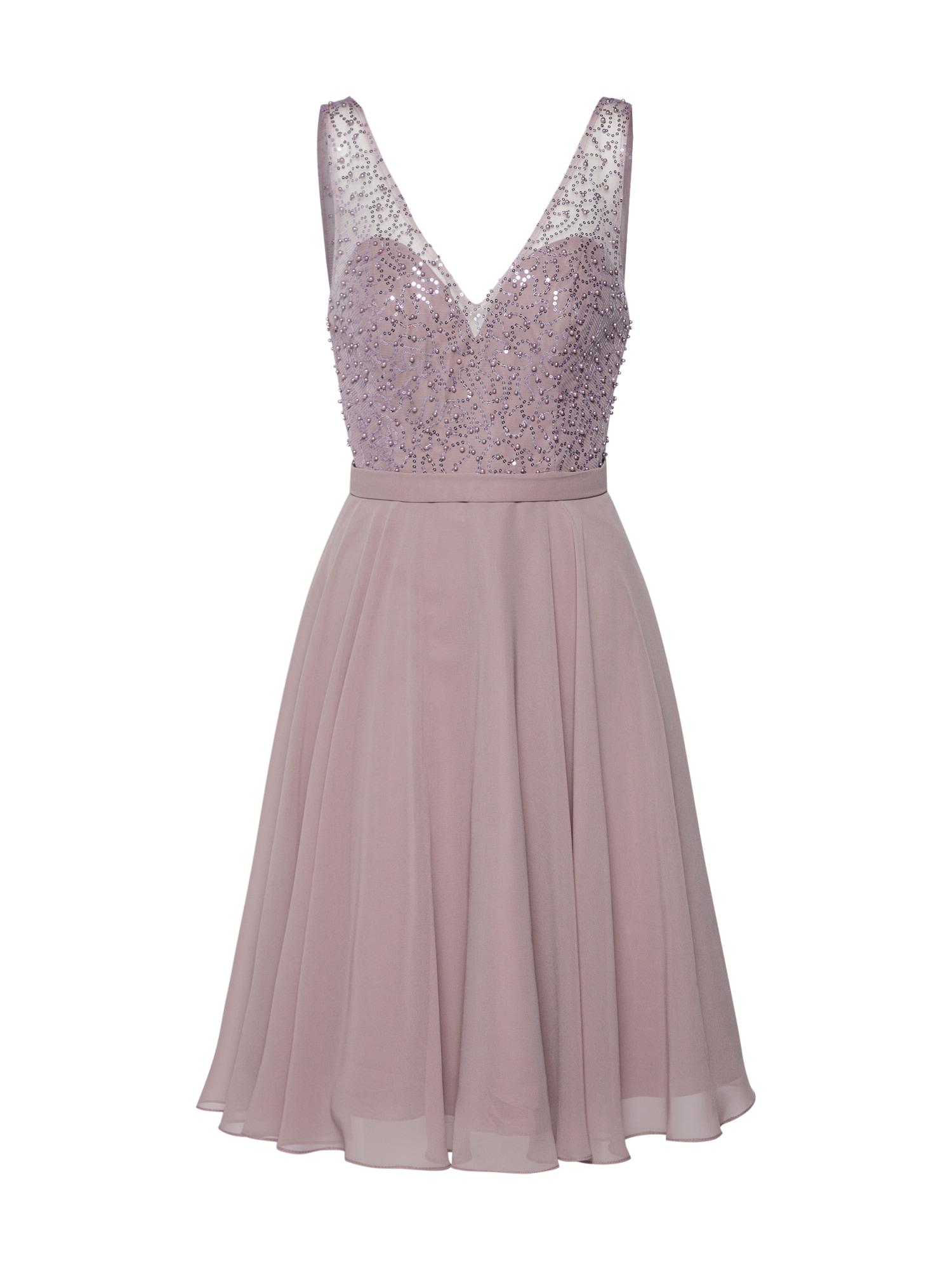 mascara Kokteilinė suknelė pastelinė violetinė