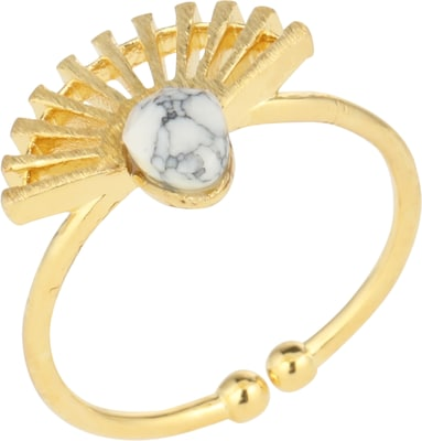 Blond ACCESSORIES Ring mit Zierstein 'Wave'