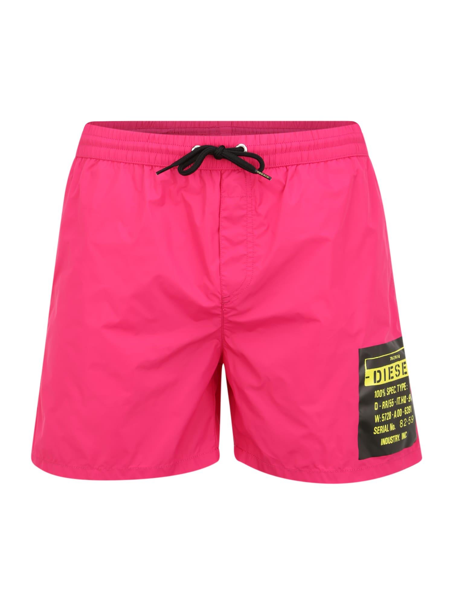 DIESEL Plavecké šortky 'Bmbx-Wave'  ružová