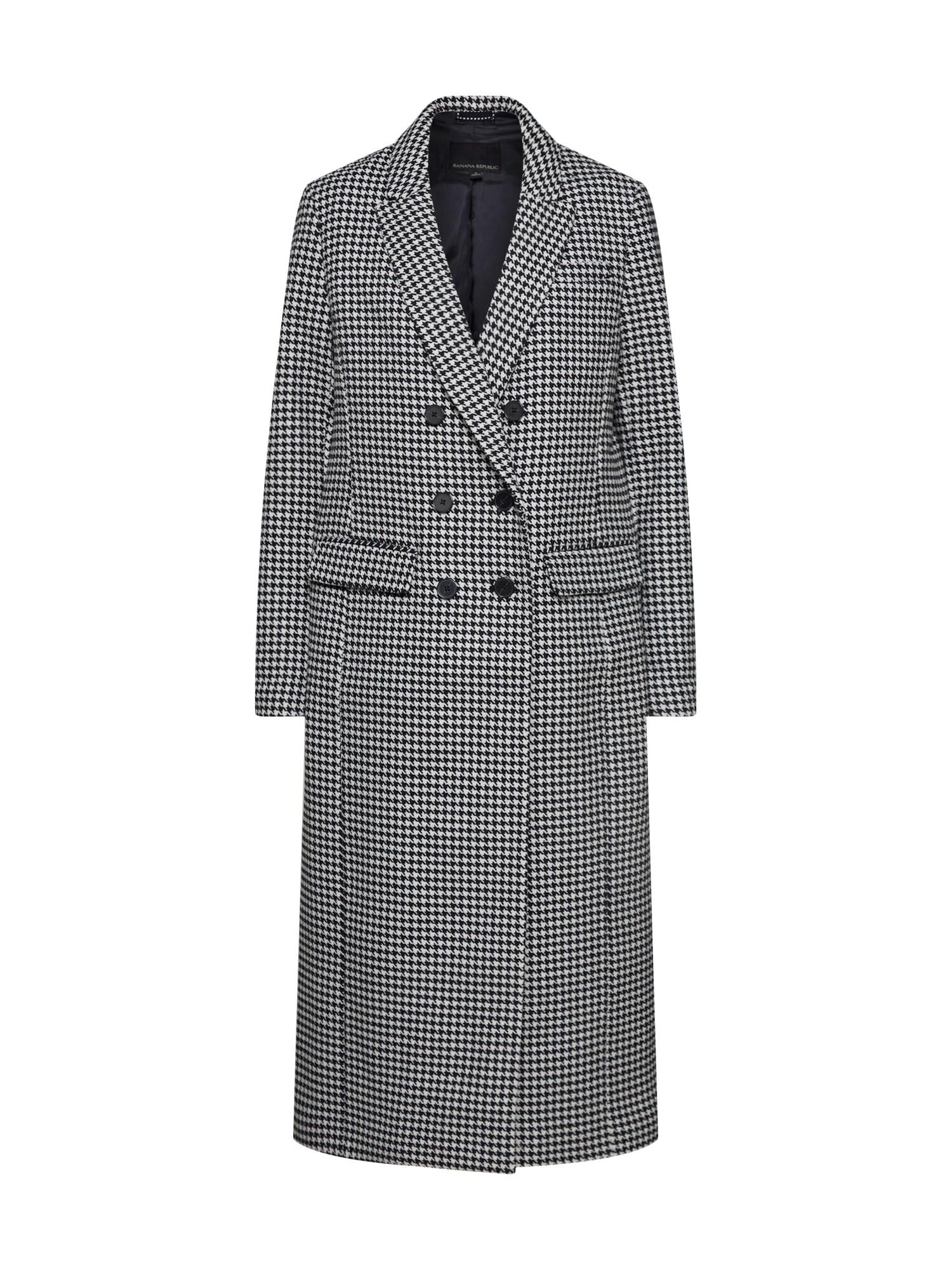 Banana Republic Rudeninis-žieminis paltas juoda / balta