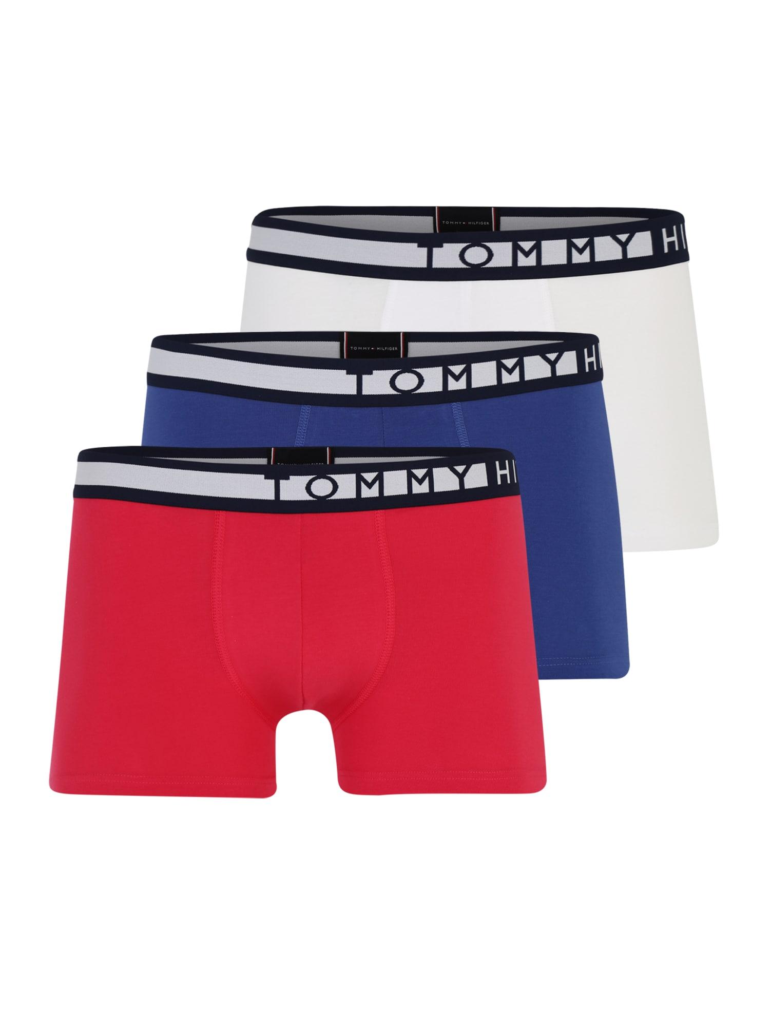 Boxerky 3P Trunk tmavě modrá červená bílá Tommy Hilfiger Underwear