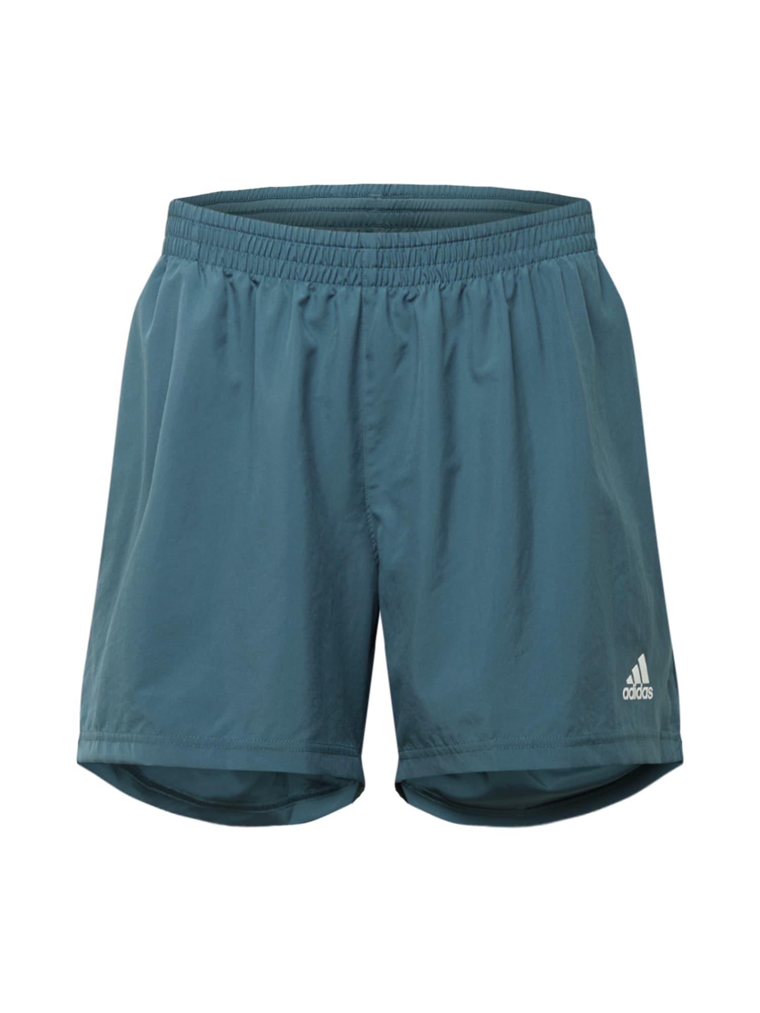 "ADIDAS PERFORMANCE Sportovní kalhoty 'Run It Pb 5""'  tmavě modrá / bílá"