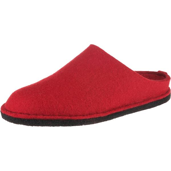 Hausschuhe für Frauen - HAFLINGER Soft Pantoffeln rot  - Onlineshop ABOUT YOU