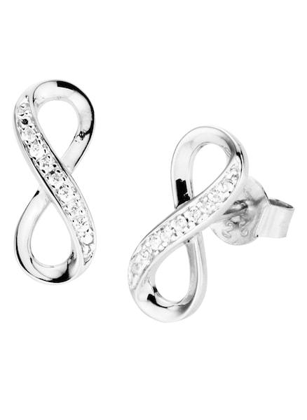 Ohrringe für Frauen - FIRETTI Paar Ohrstecker 'Unendlichkeit' mit Zirkonia silber  - Onlineshop ABOUT YOU