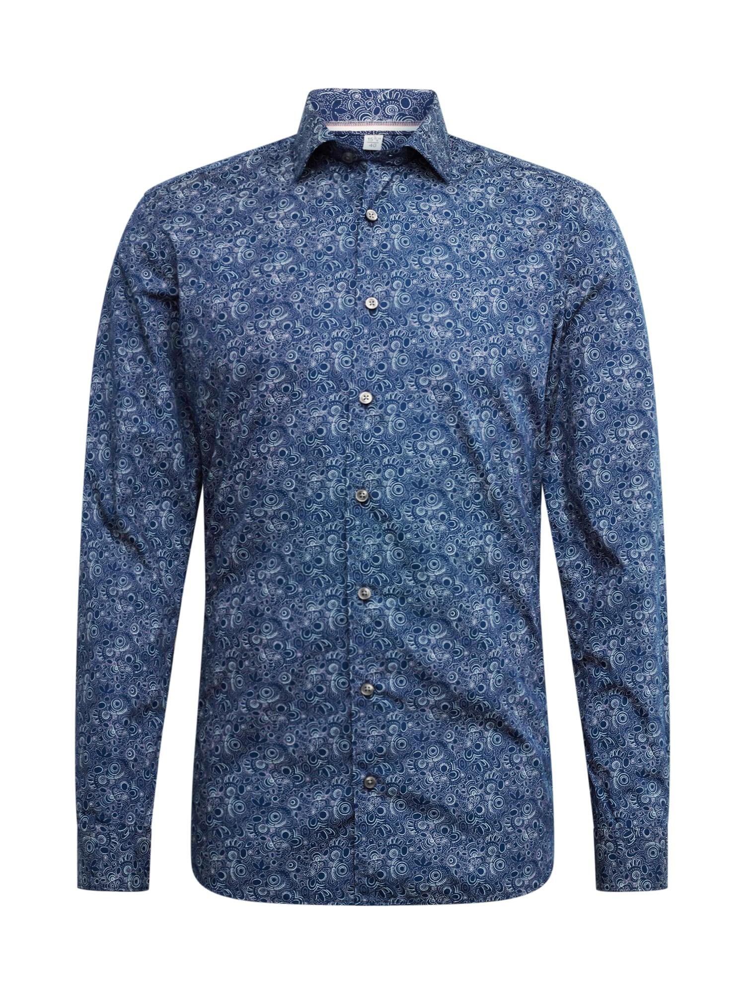OLYMP Marškiniai tamsiai mėlyna