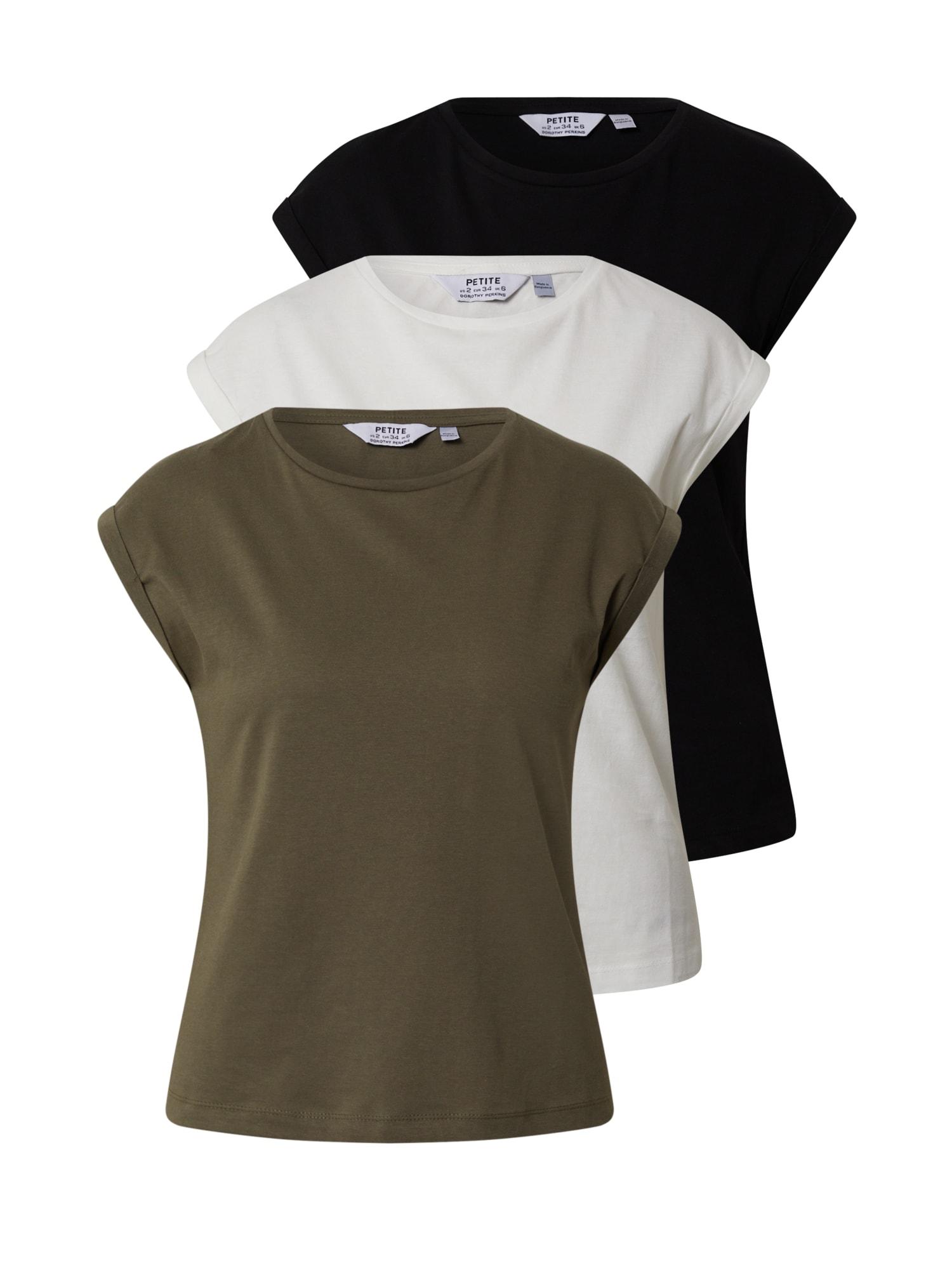 Dorothy Perkins (Petite) Marškinėliai 'ROLL SLEEVE TEE ' juoda