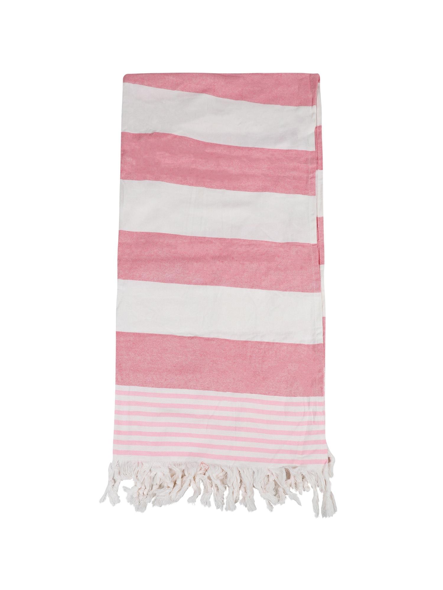 ABOUT YOU Paplūdimio rankšluostis 'Melisa' rožių spalva / balta