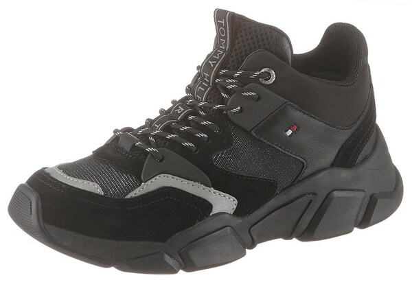Sneakers - Keilsneaker 'Billy' › Tommy Hilfiger › anthrazit hellgrau schwarz  - Onlineshop ABOUT YOU
