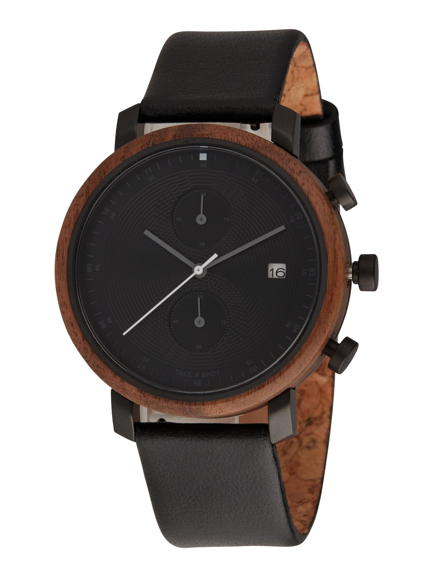 TAKE A SHOT Analoginis (įprastinio dizaino) laikrodis 'Charles' ruda / juoda