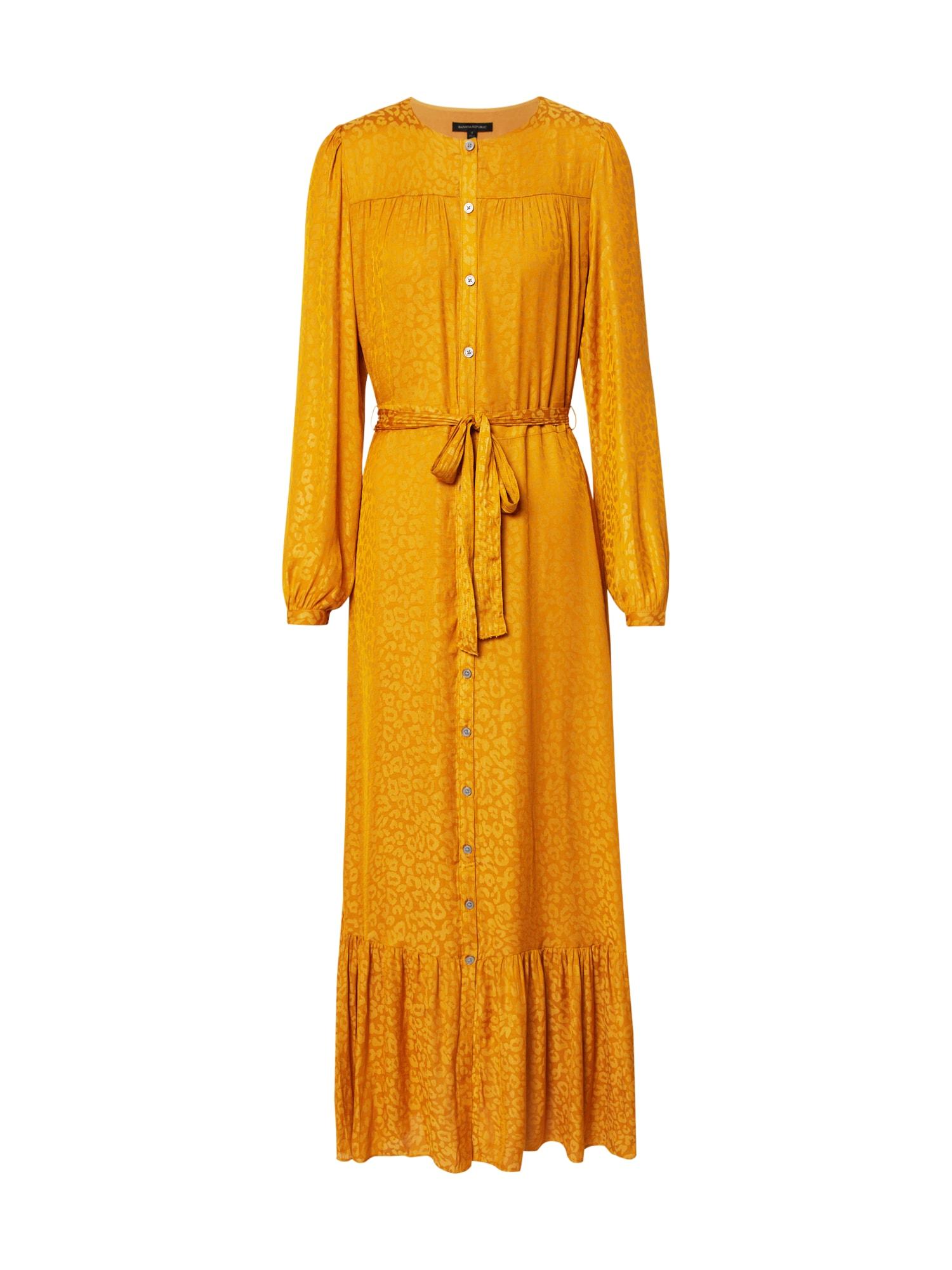 Banana Republic Palaidinės tipo suknelė aukso geltonumo spalva