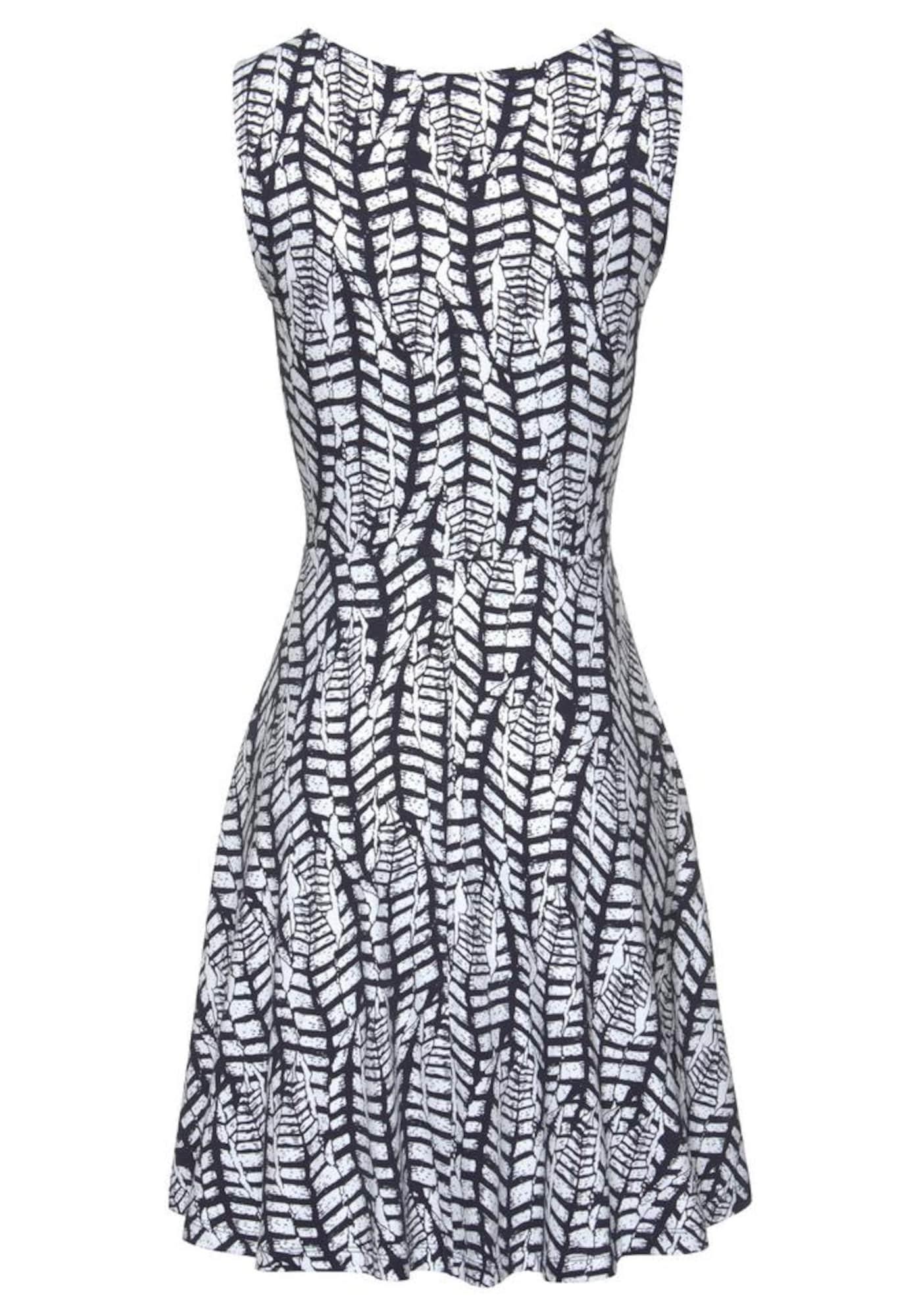 BEACH TIME Paplūdimio suknelė tamsiai mėlyna jūros spalva / balta