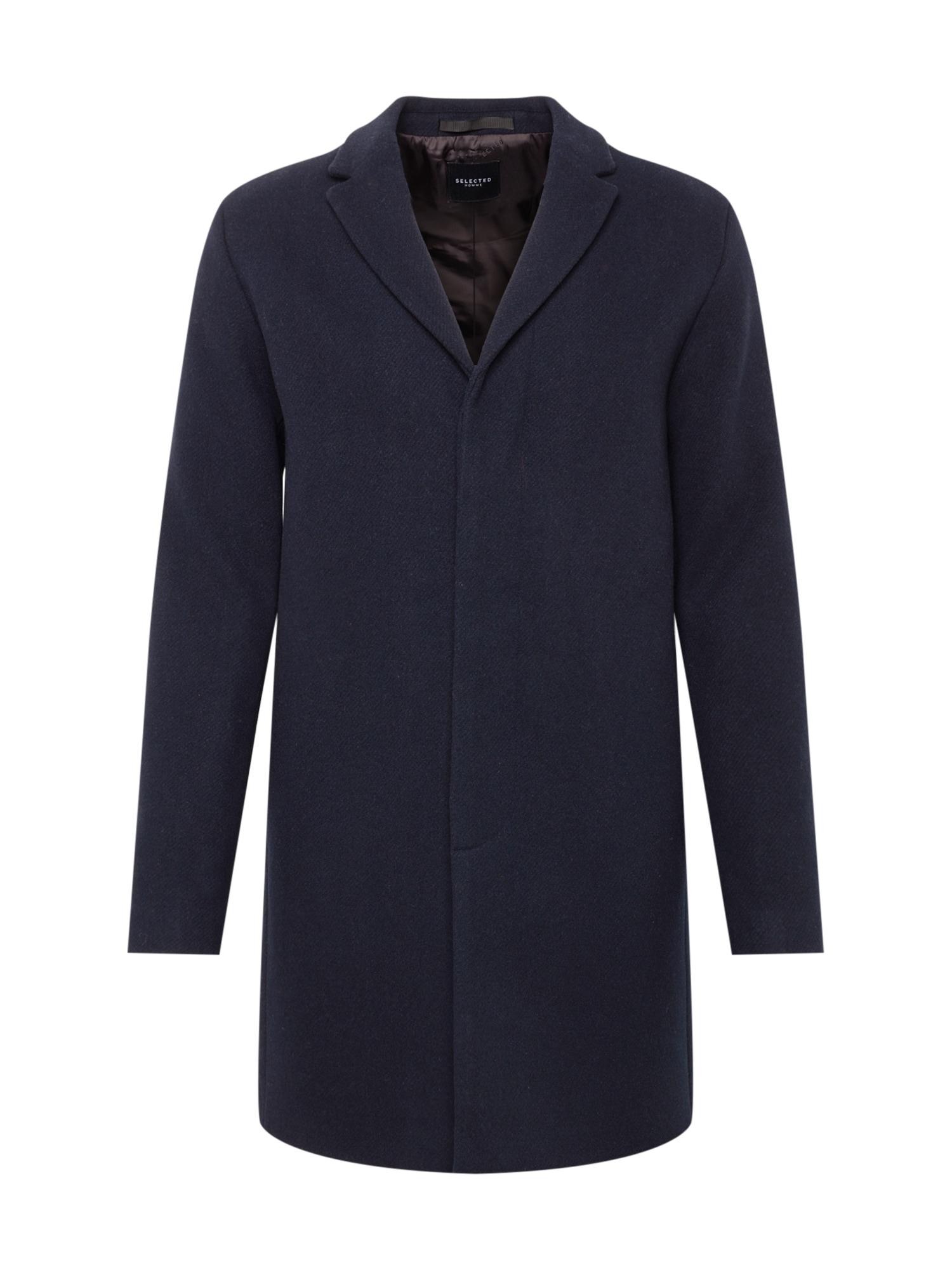 SELECTED HOMME Rudeninis-žieminis paltas tamsiai mėlyna jūros spalva