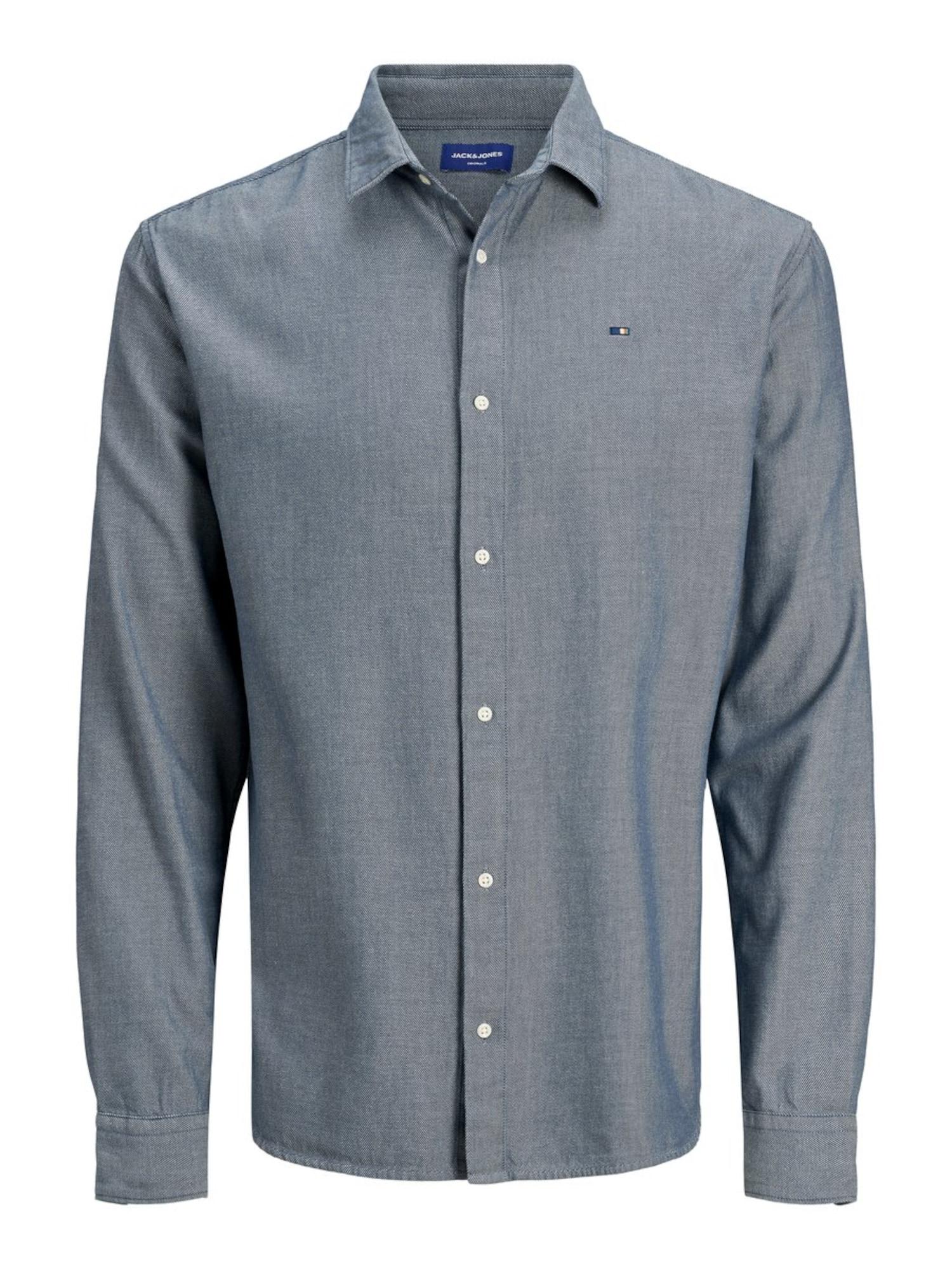 JACK & JONES Košile  šedá / modrá