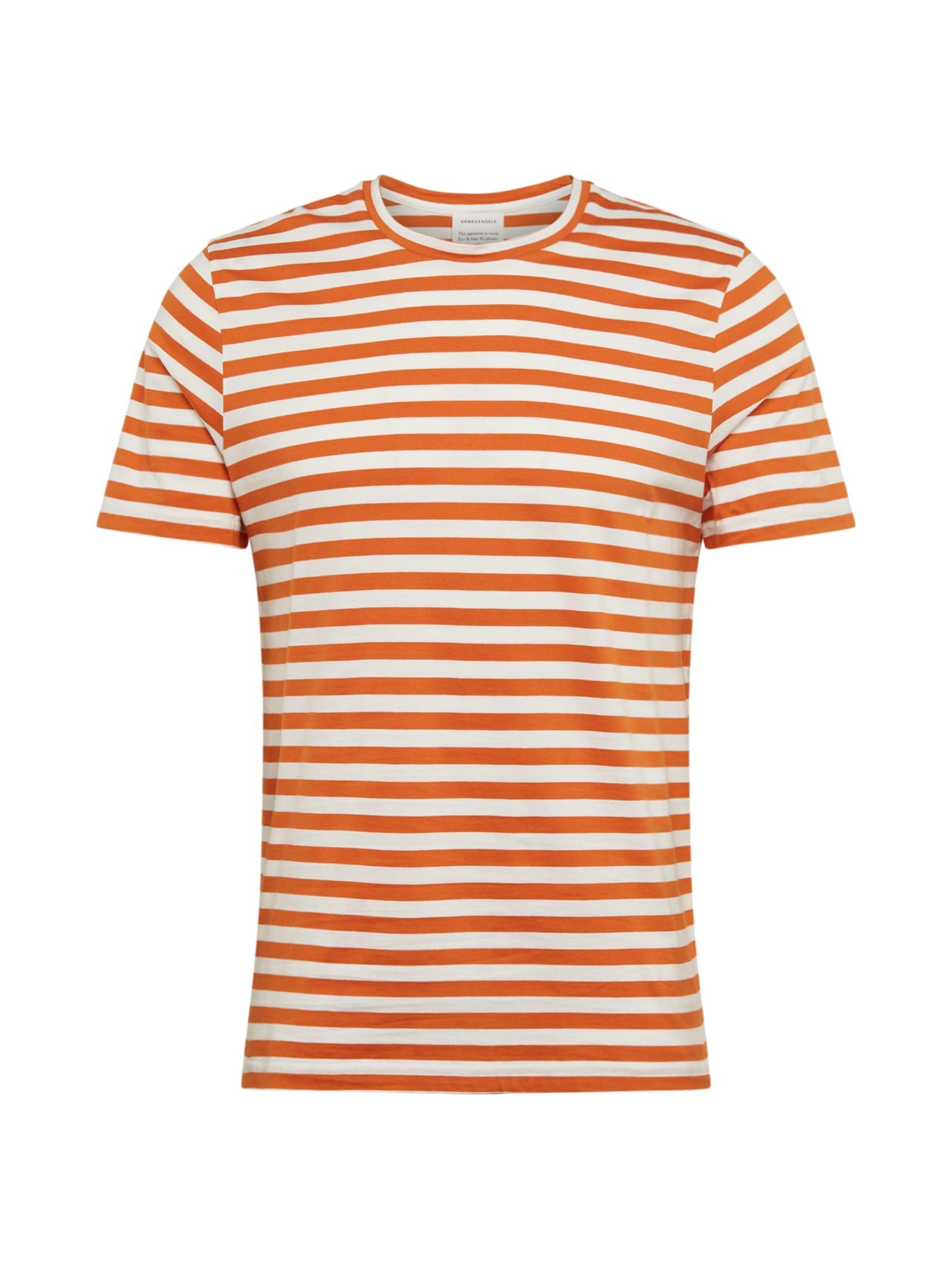 ARMEDANGELS Marškinėliai 'JAAMES BRETON' balkšva / oranžinė