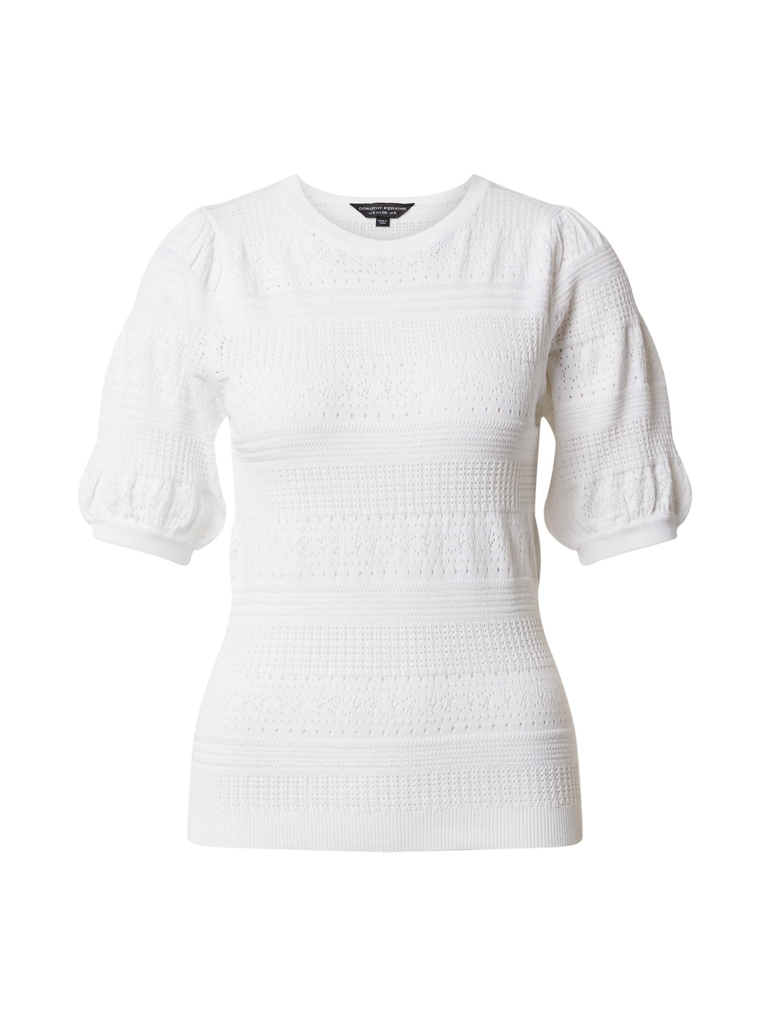 Dorothy Perkins Marškinėliai 'Ivory Pointelle' dramblio kaulo