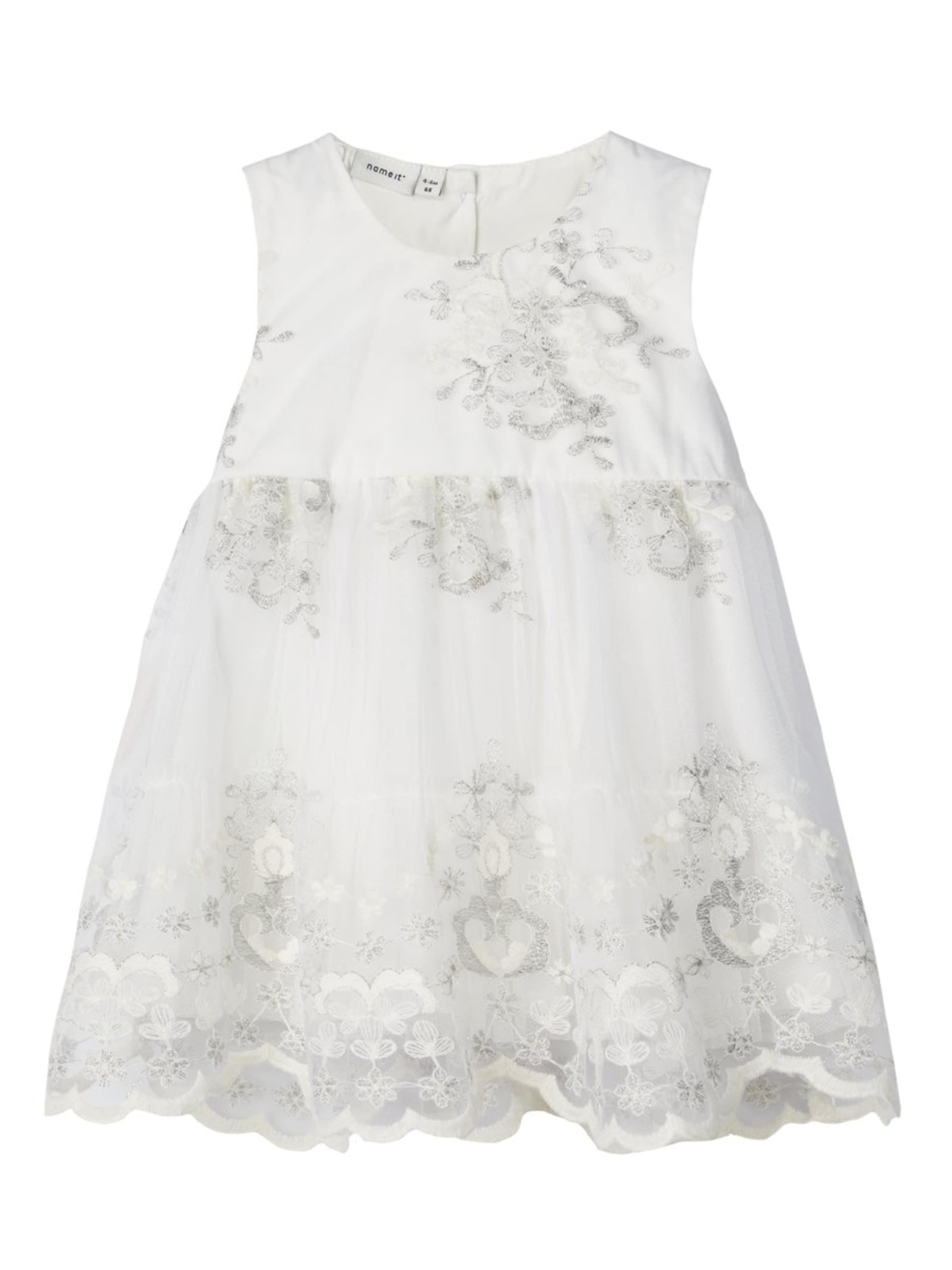 Kinder,  Mädchen,  Kinder NAME IT Kleid grau,  schwarz, weiß | 05713777390698
