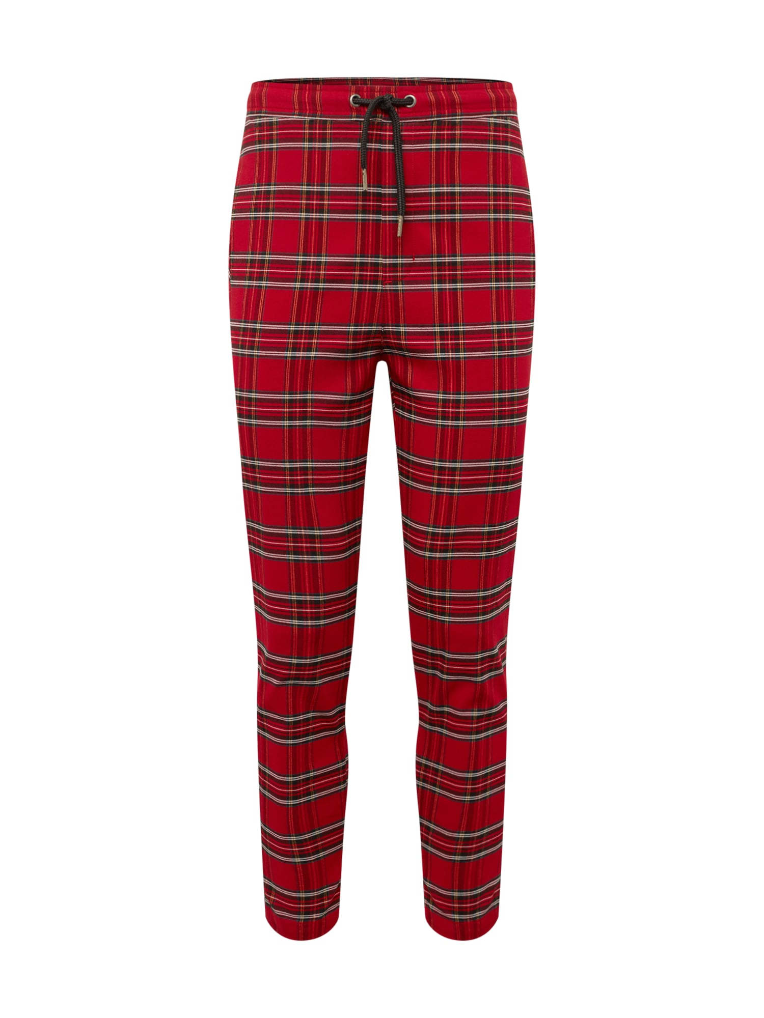 Urban Classics Nohavice  červené / čierna
